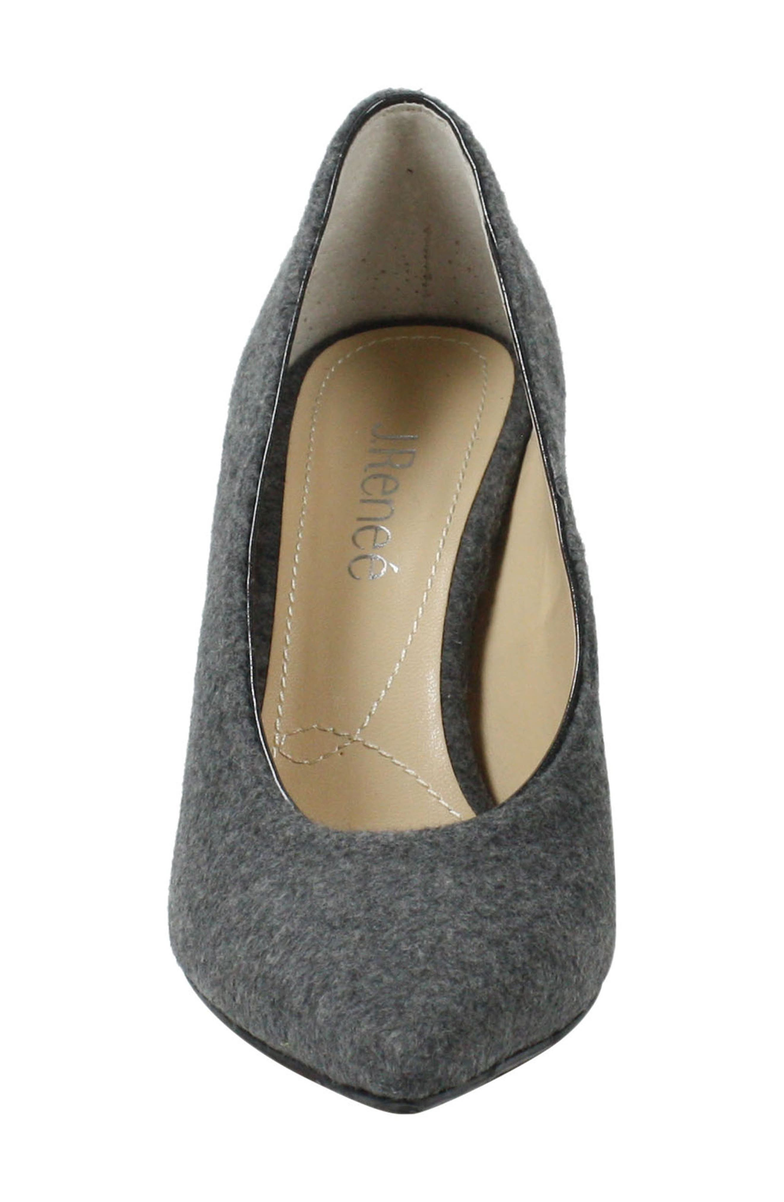J. RENEÉ,                             Madisson Pointy Toe Pump,                             Alternate thumbnail 4, color,                             GREY FABRIC