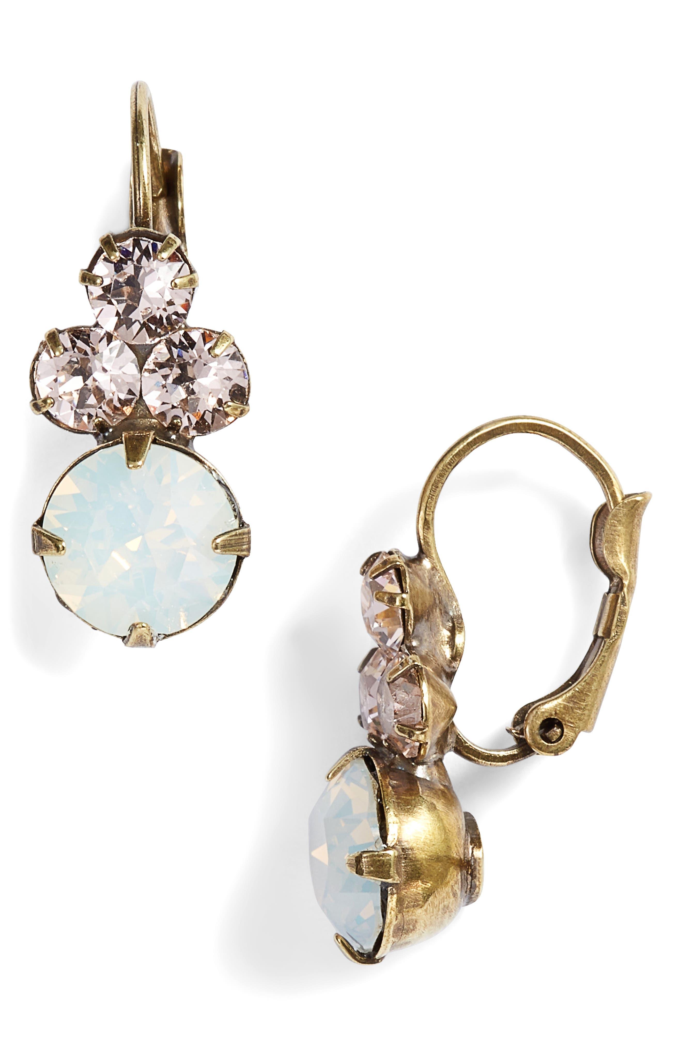 Wisteria Crystal Drop Earrings,                         Main,                         color, 650