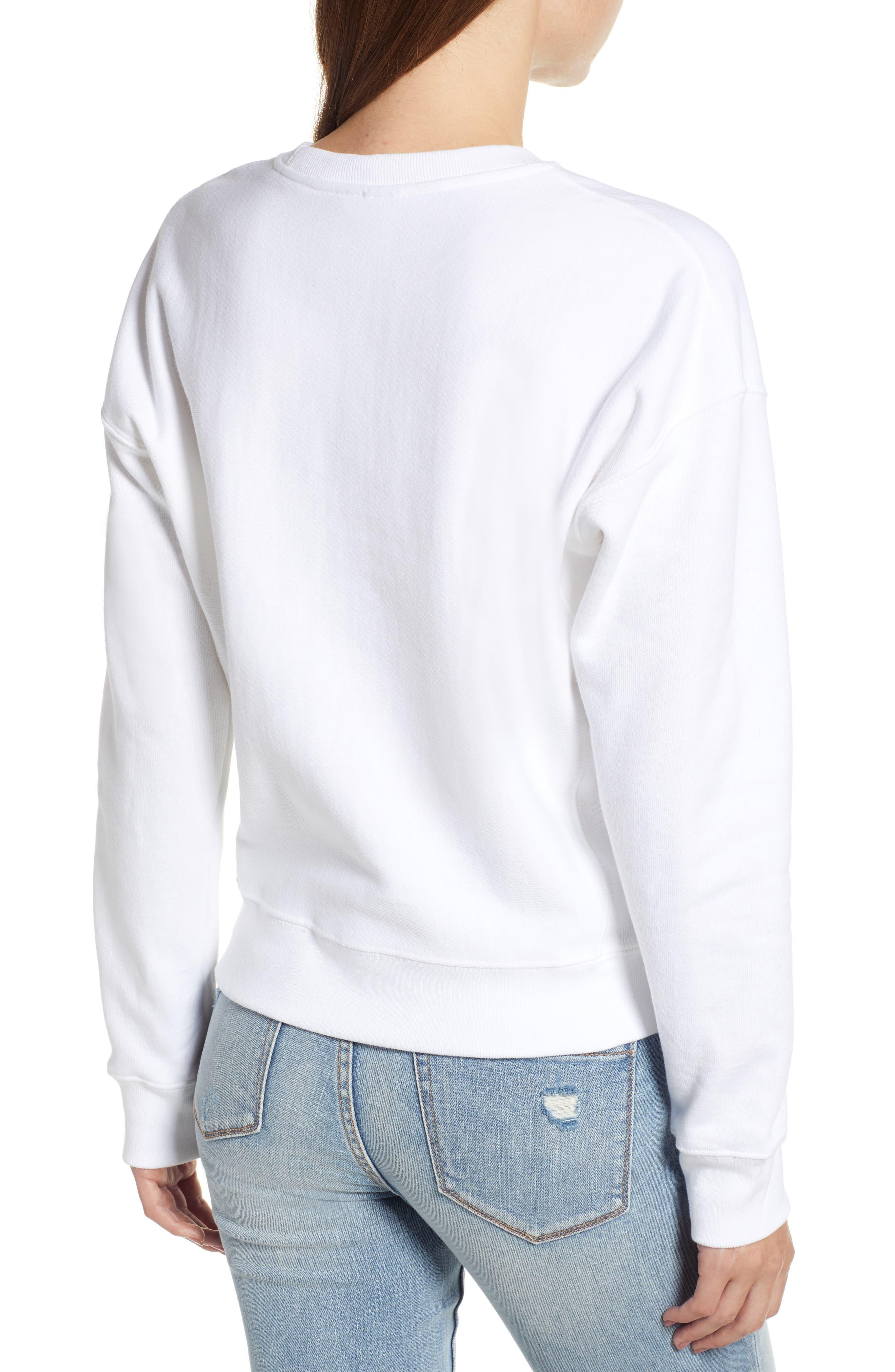 Sublimated Logo Sweatshirt,                             Alternate thumbnail 3, color,                             WHITE