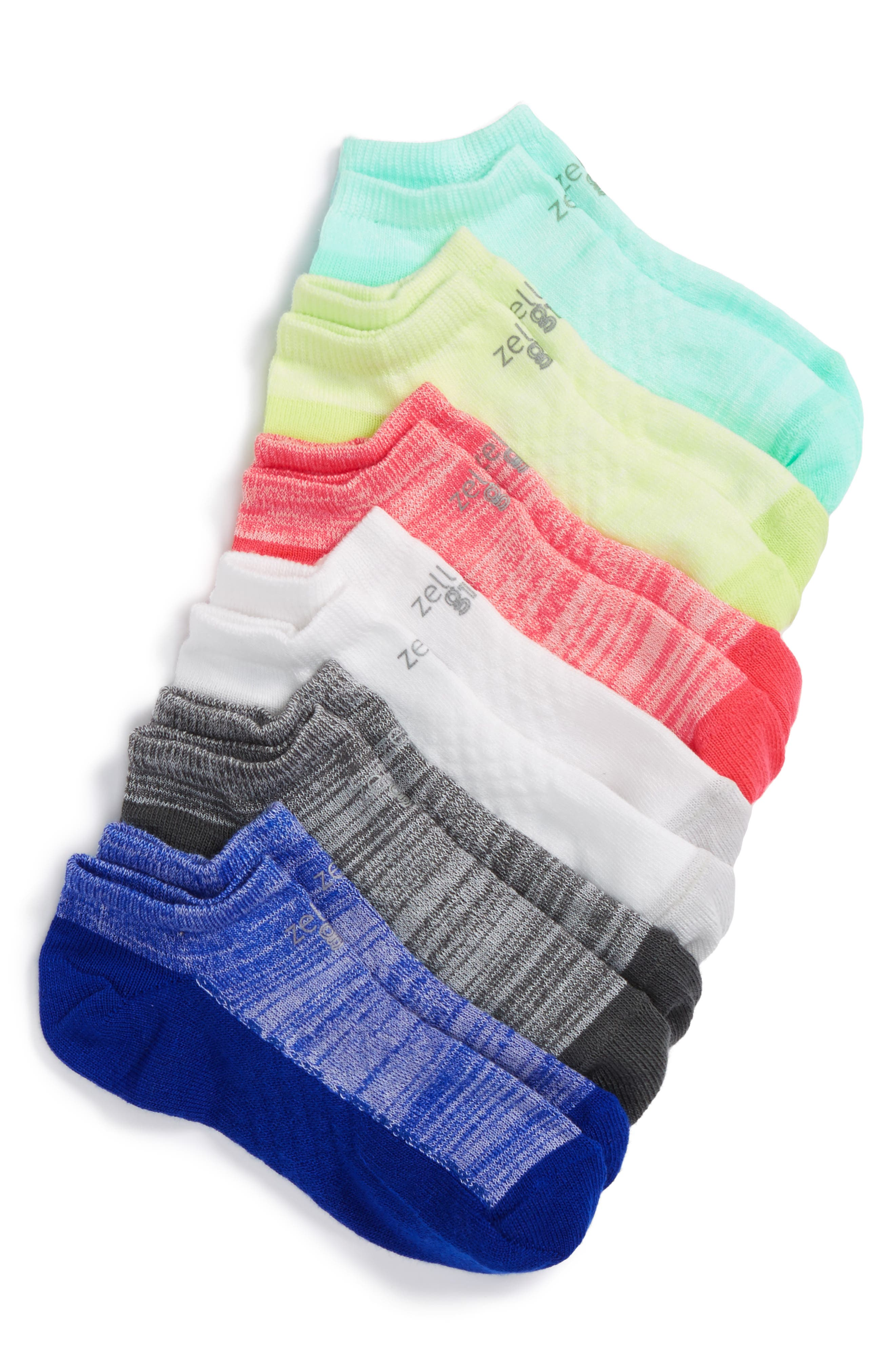 6-Pack Ankle Socks,                             Main thumbnail 6, color,