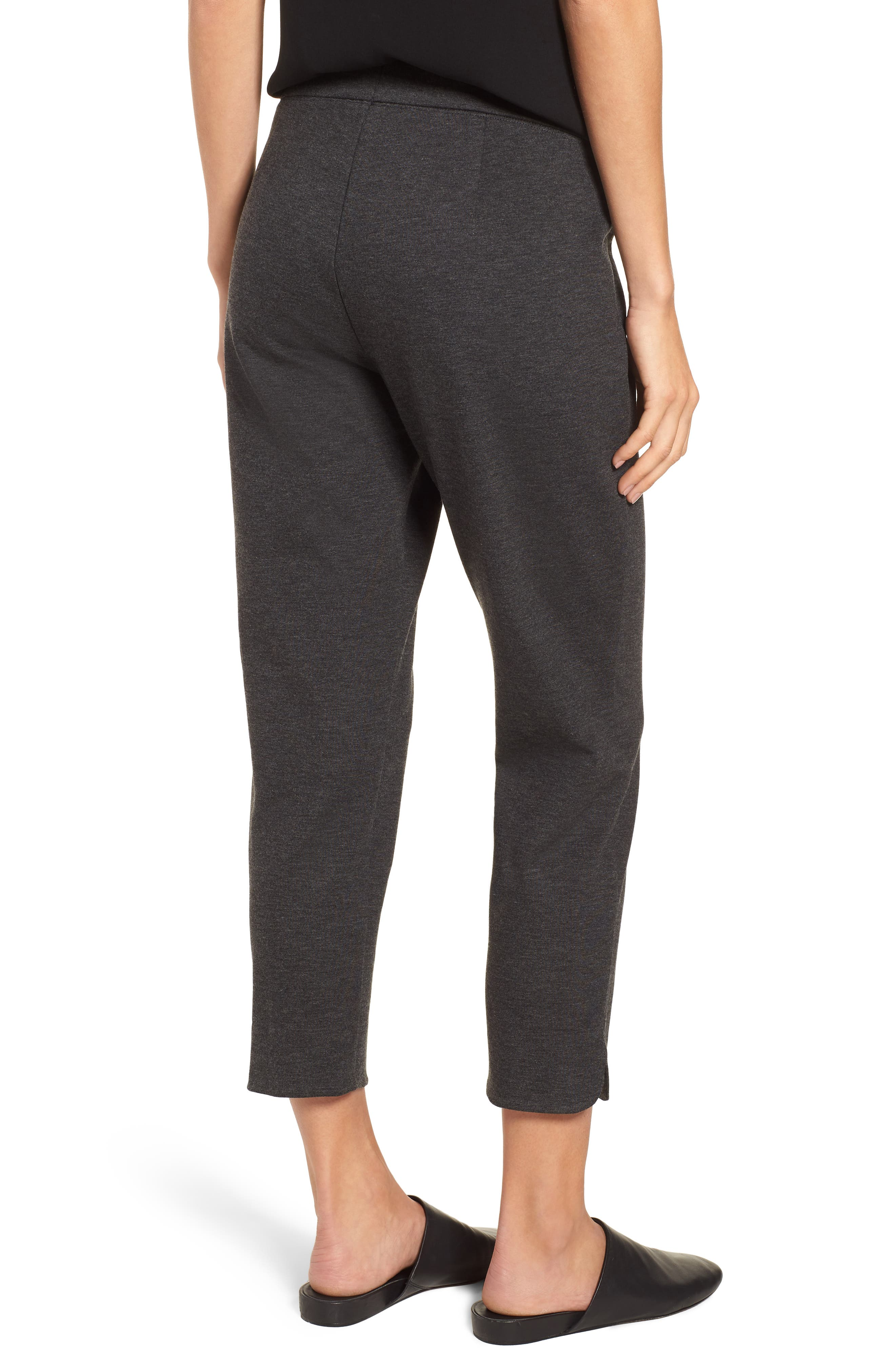 Slim Crop Pants,                             Alternate thumbnail 2, color,                             CHARCOAL