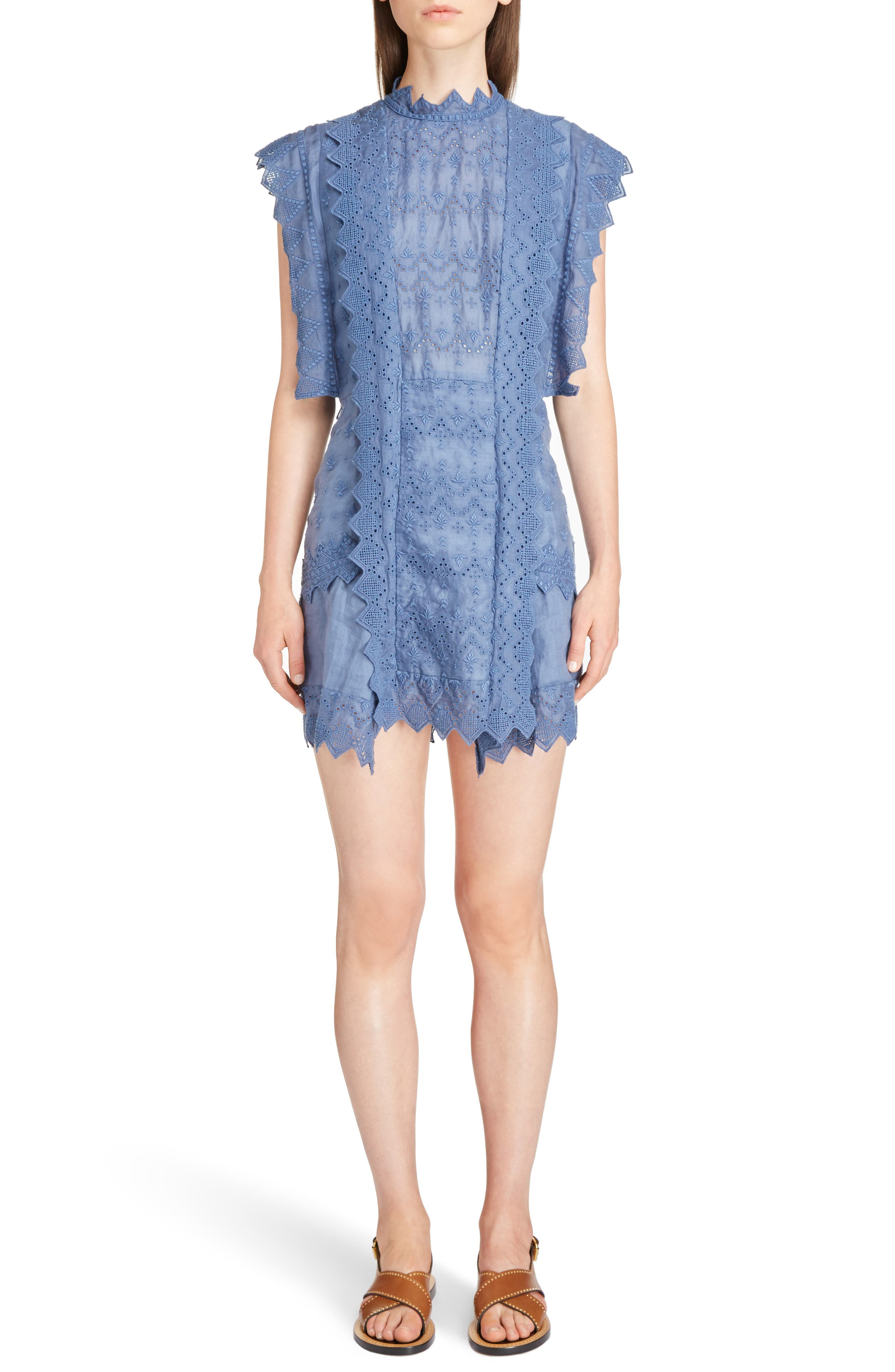 Nubia Embroidered Eyelet Dress,                         Main,                         color, 400