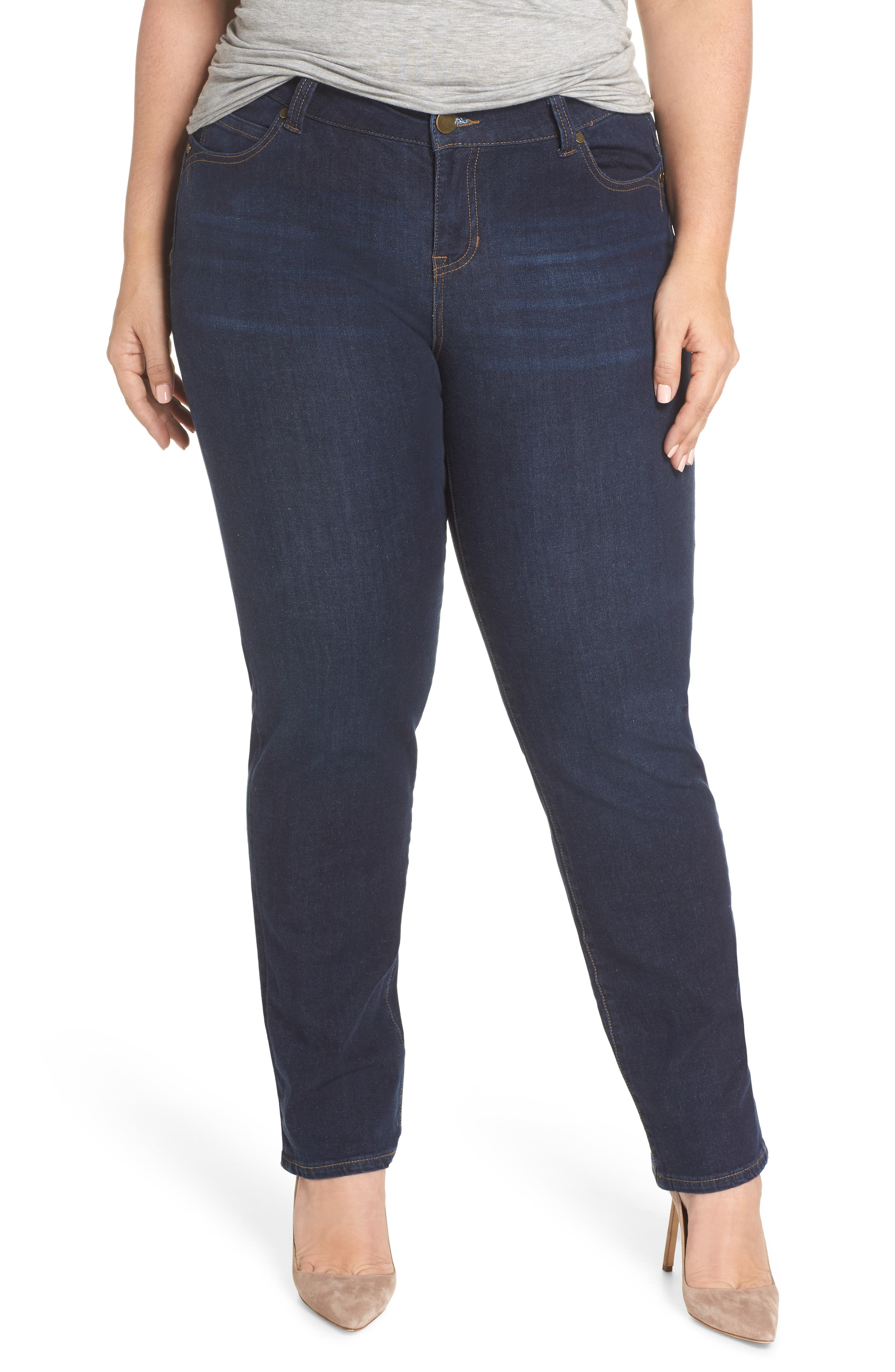 Remy - Hugger Straight Leg Jeans,                             Main thumbnail 1, color,                             CORVUS DARK