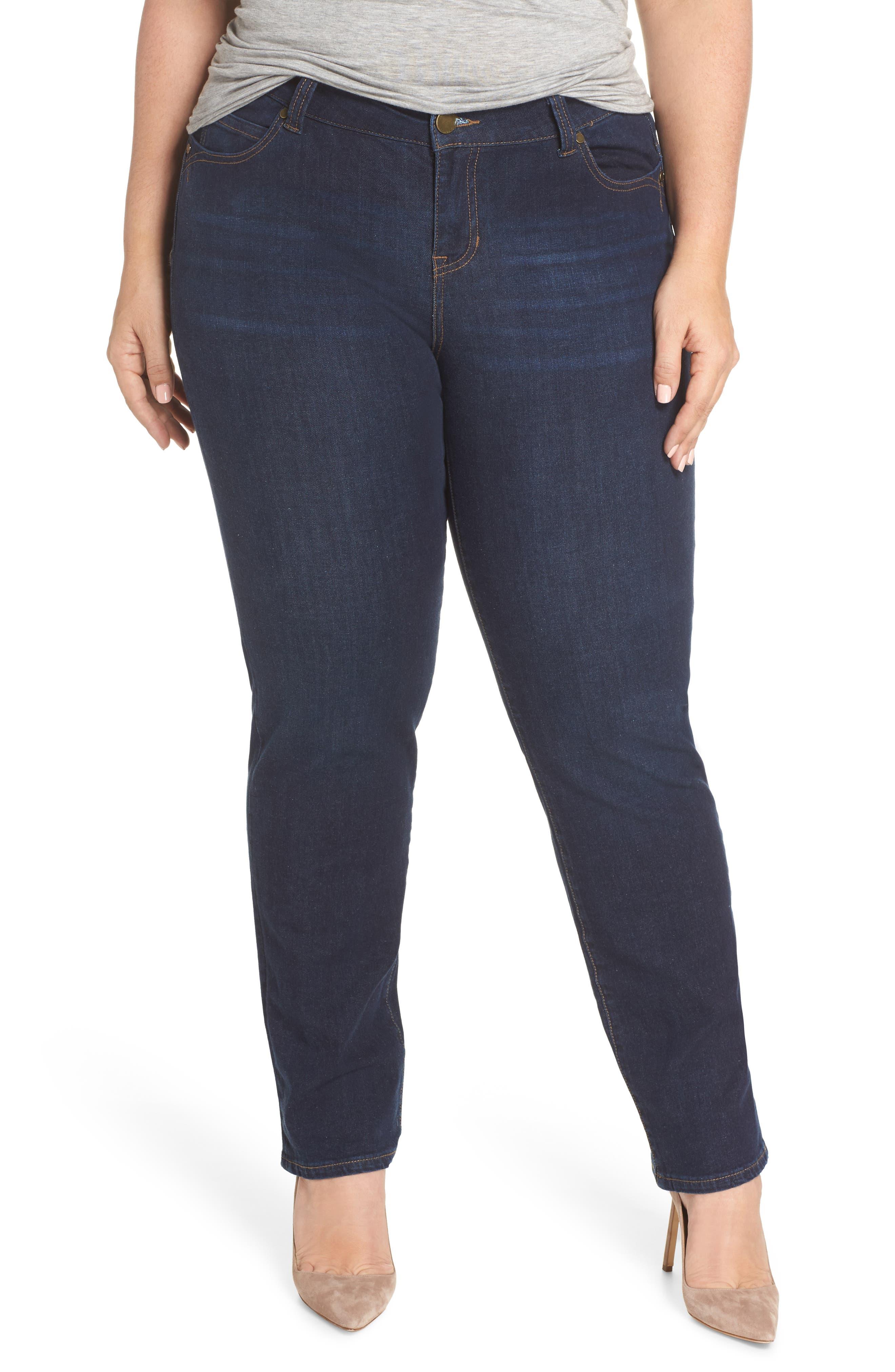 LIVERPOOL Remy - Hugger Straight Leg Jeans, Main, color, CORVUS DARK