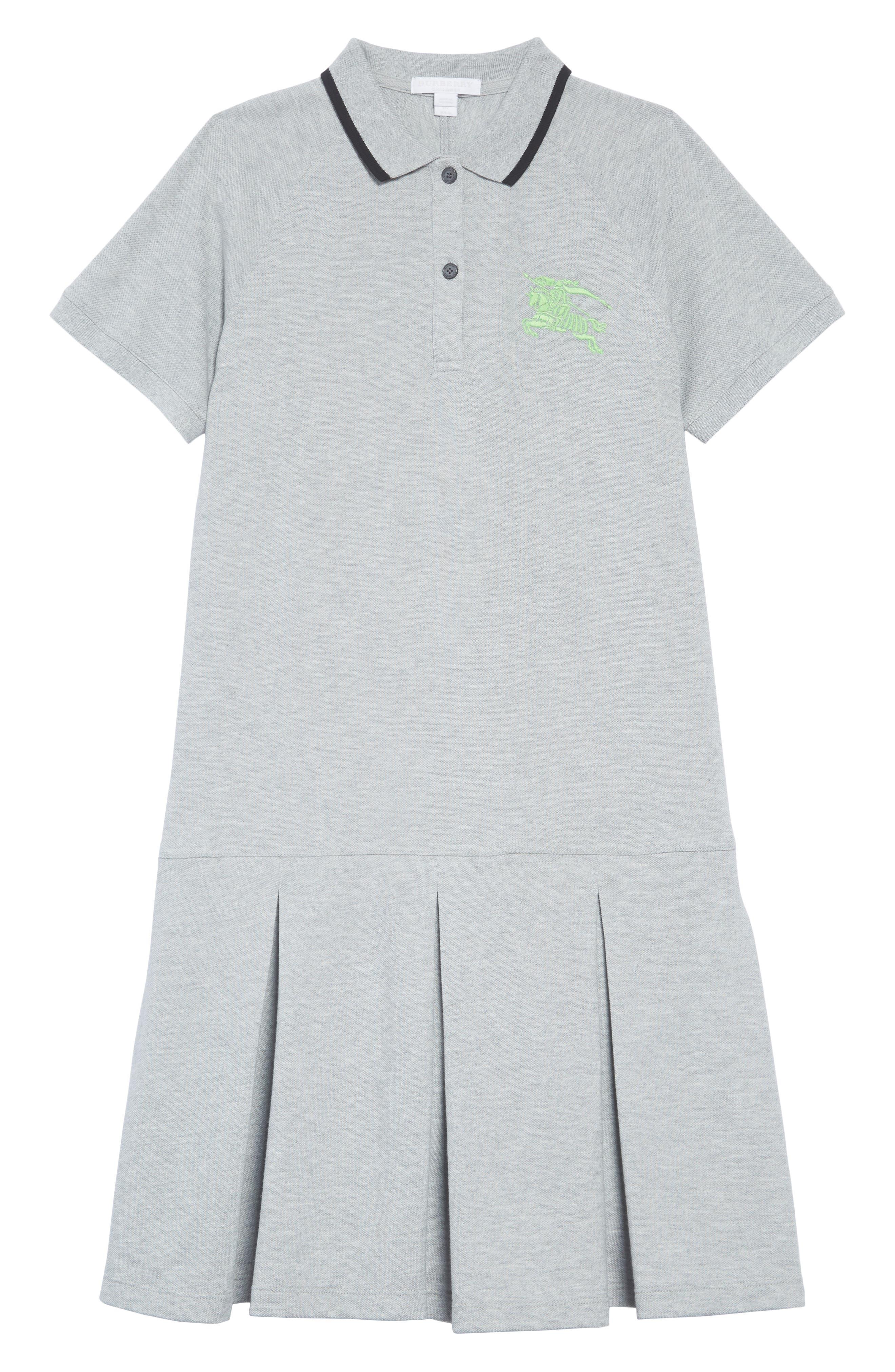 Mollyanna Polo Dress,                             Main thumbnail 1, color,                             GREY MELANGE