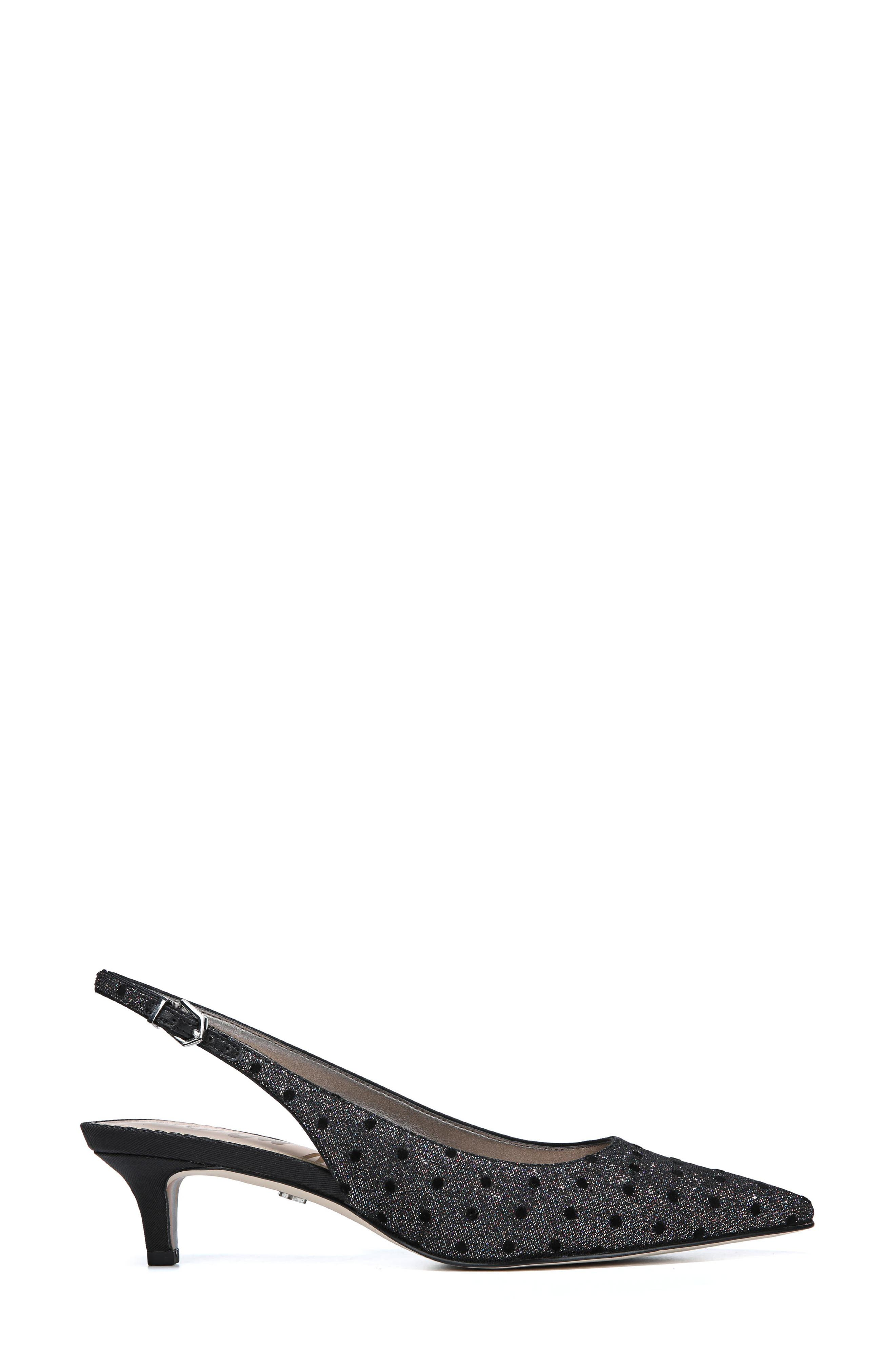 Ludlow Slingback Pump,                             Alternate thumbnail 3, color,                             METALLIC GLITTER