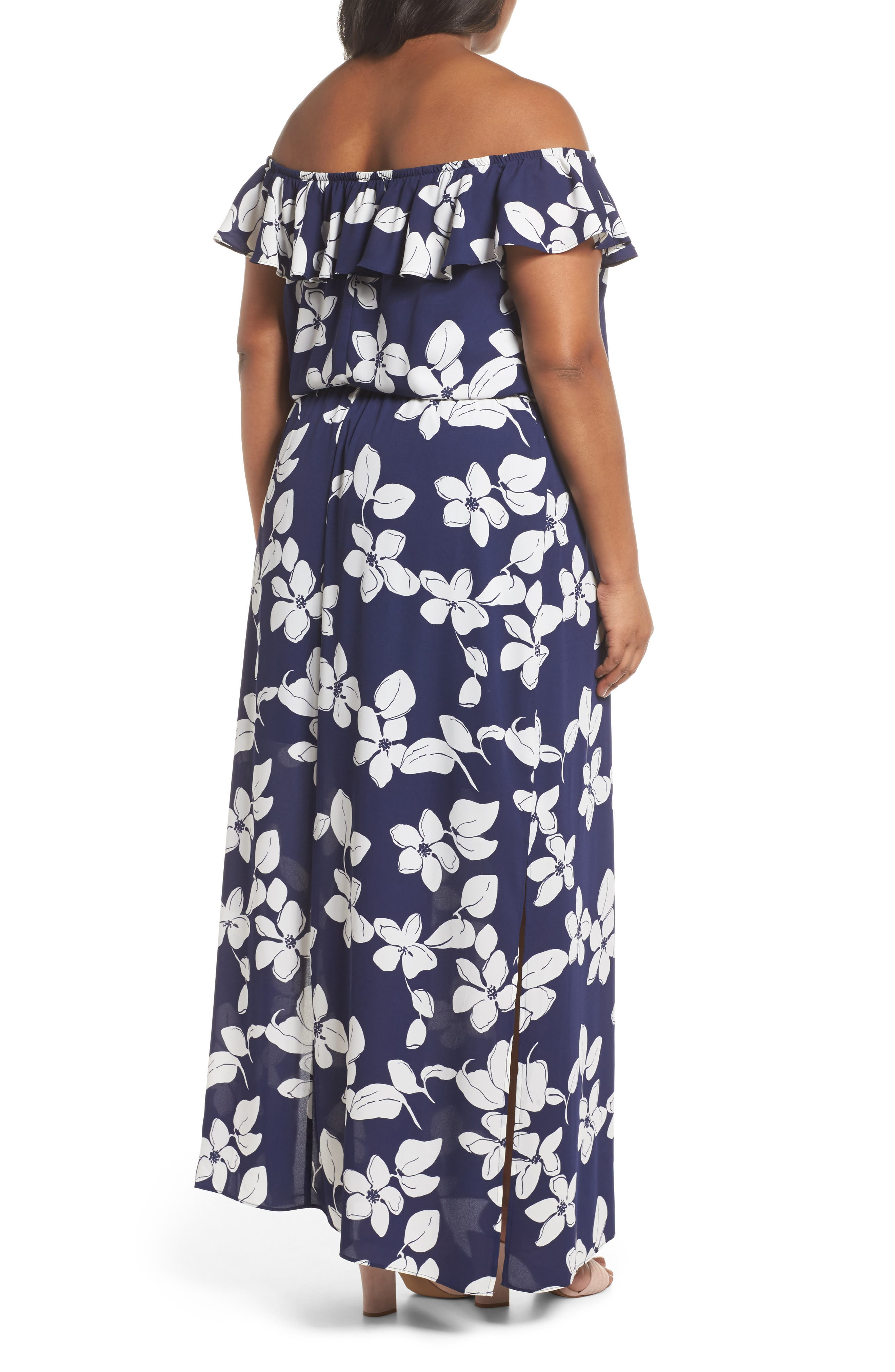 ADRIANNA PAPELL,                             Simple Delight Ruffle Maxi Dress,                             Alternate thumbnail 2, color,                             480