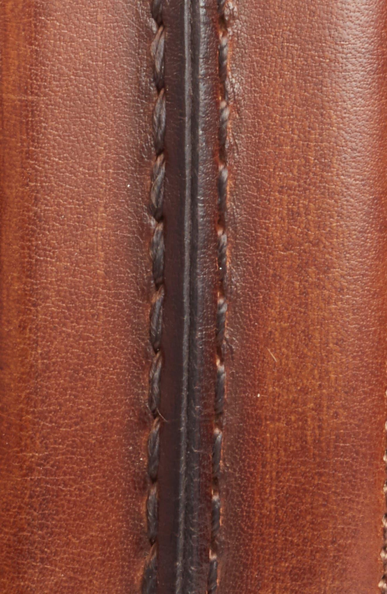 Palma Leather Belt,                             Alternate thumbnail 2, color,                             COGNAC