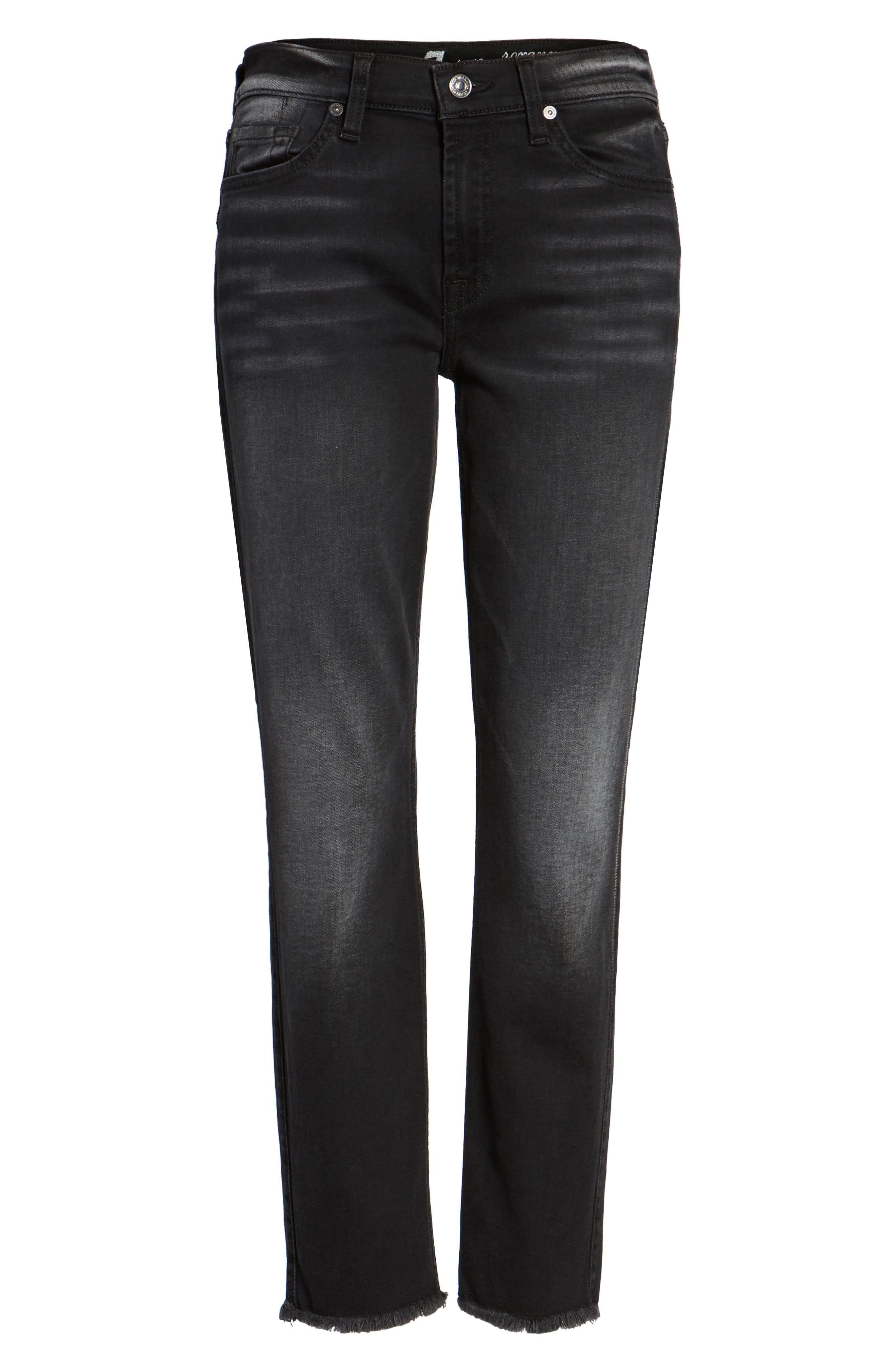 Seven7 Roxanne Raw Hem Ankle Jeans,                             Alternate thumbnail 6, color,                             004