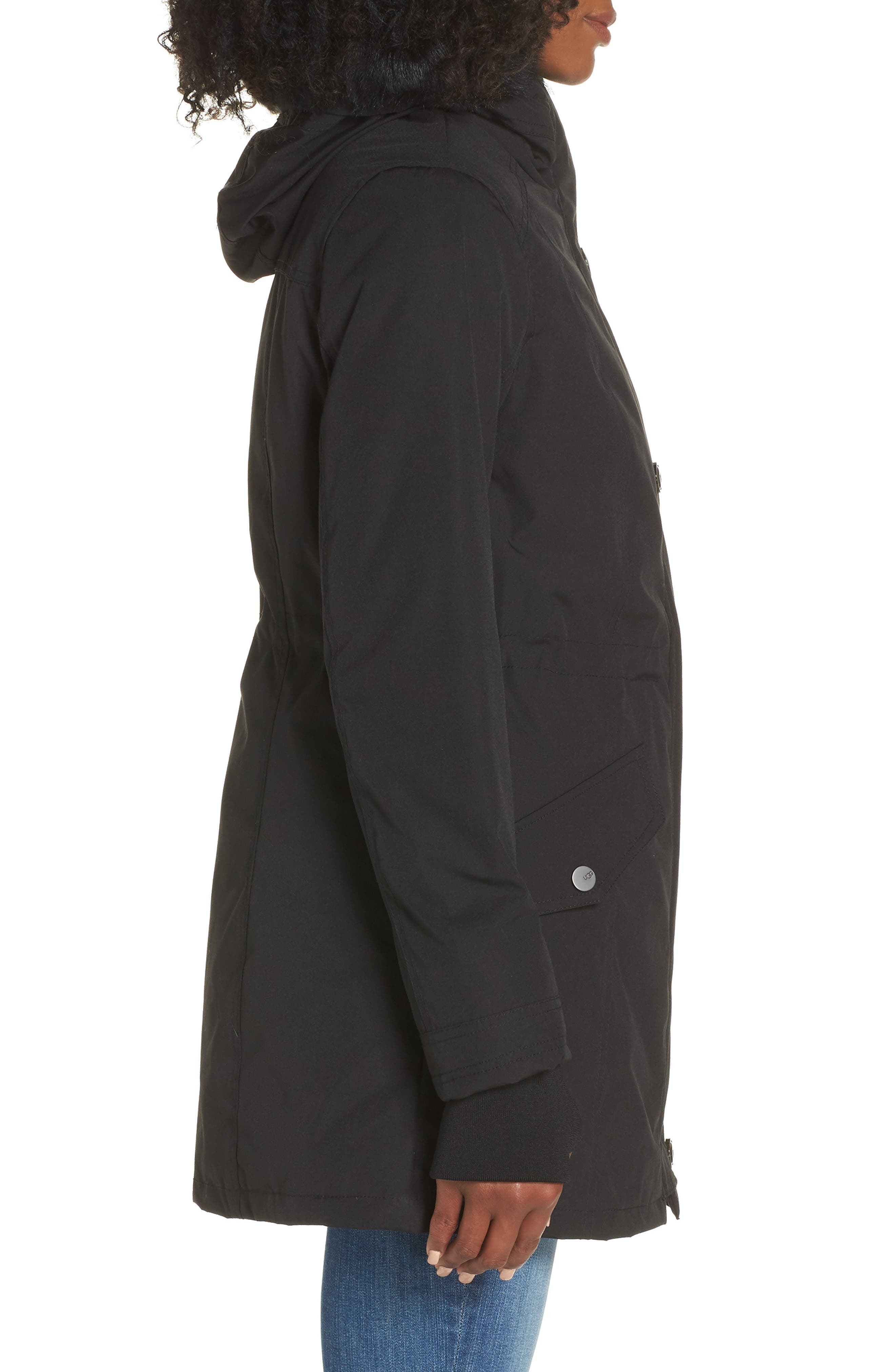 Adirondack Down Parka,                             Alternate thumbnail 4, color,                             BLACK