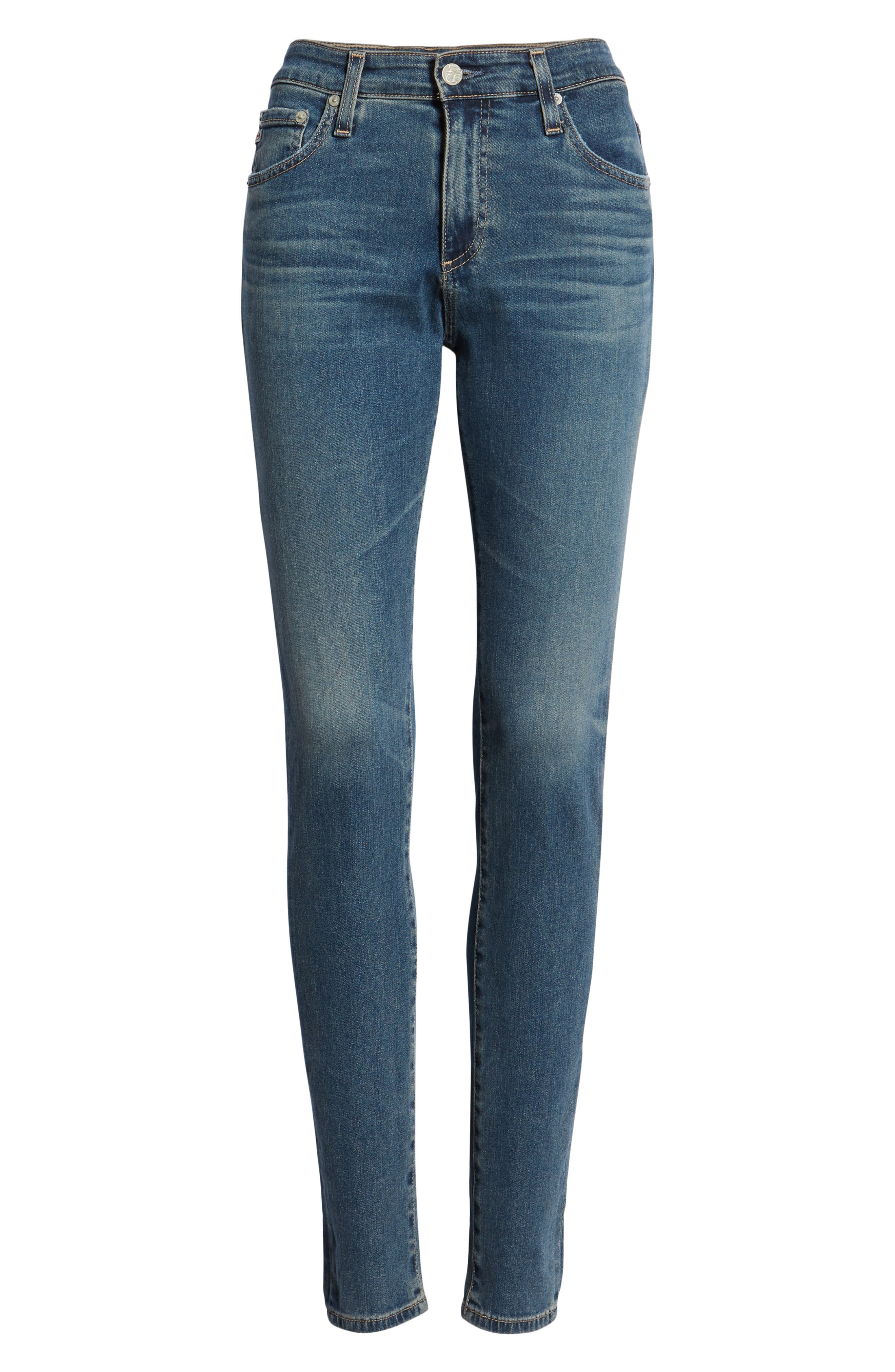The Farrah High Waist Skinny Jeans,                             Alternate thumbnail 6, color,                             12Y TENACIOUS