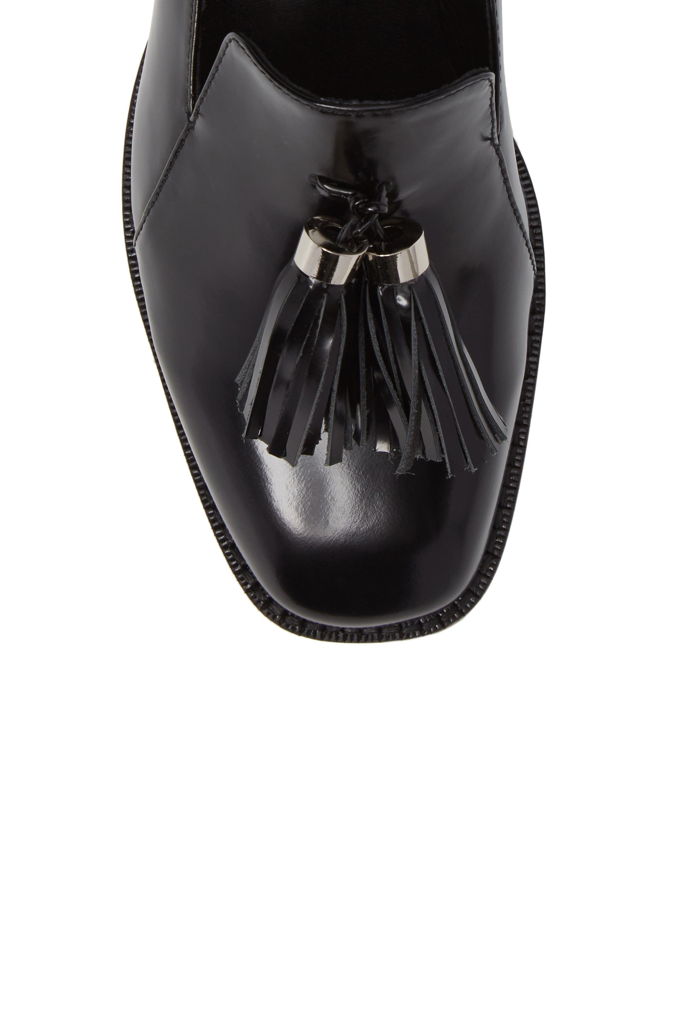 Lawford Pearly Heeled Loafer,                             Alternate thumbnail 5, color,                             001