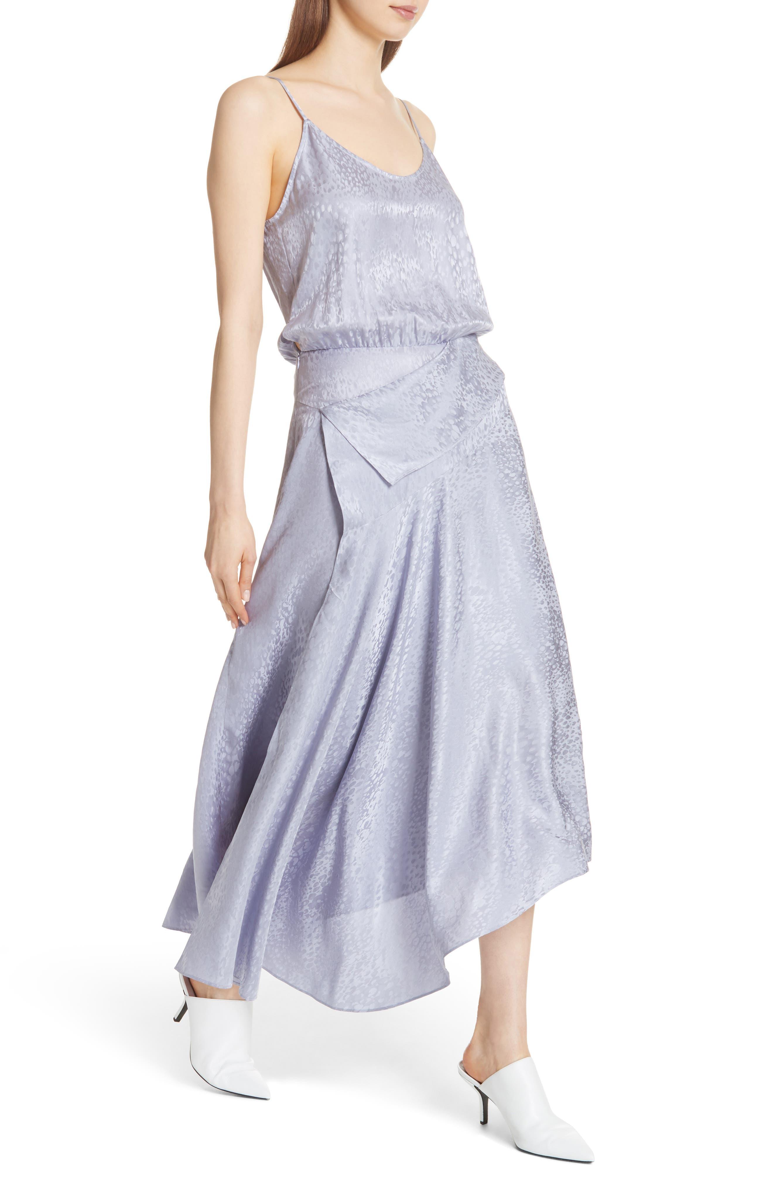 A.L.C.,                             Willa Asymmetrical Silk Jacquard Dress,                             Alternate thumbnail 4, color,                             540