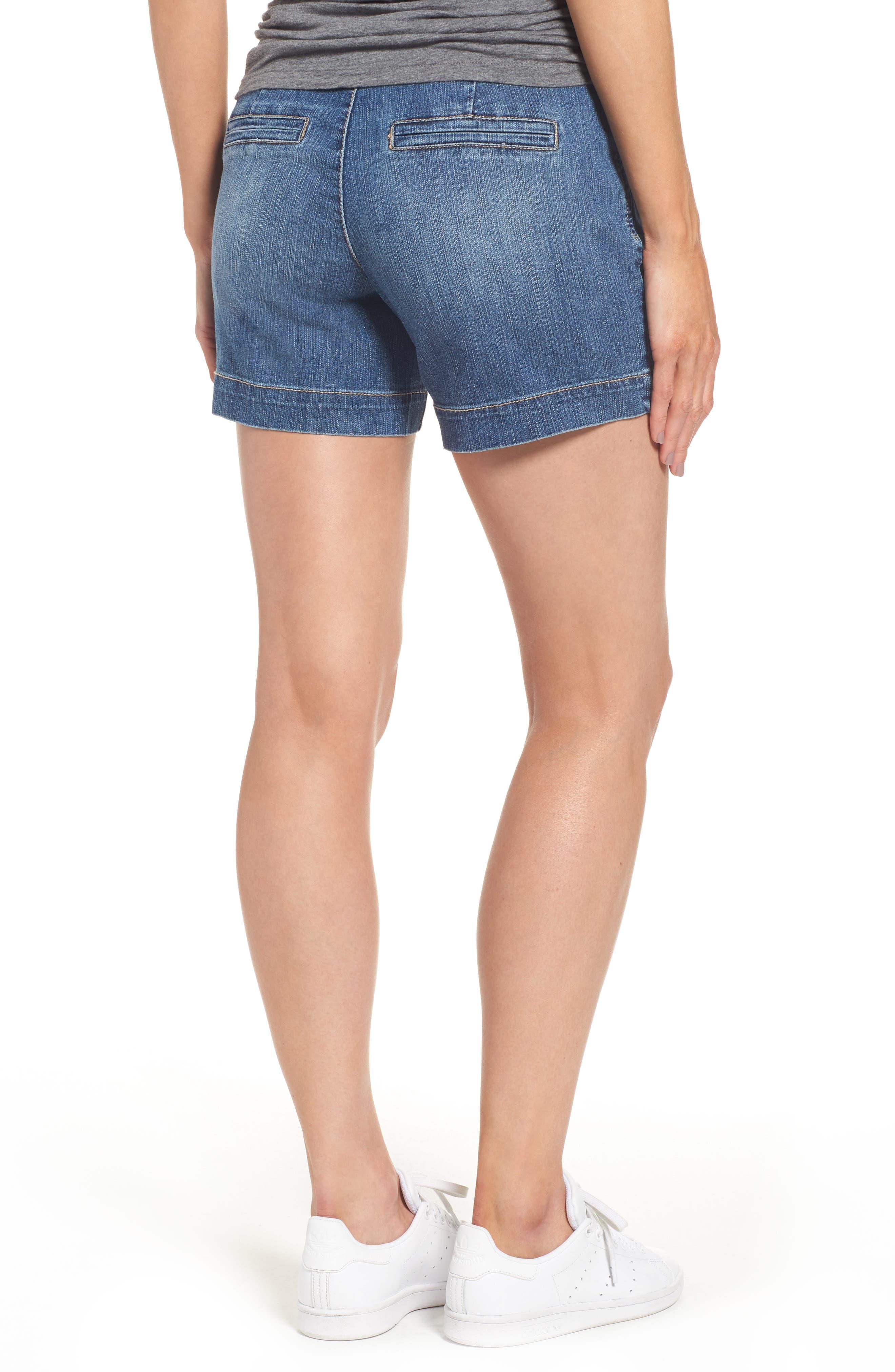 Ainsley Pull-On Denim Shorts,                             Alternate thumbnail 2, color,                             402