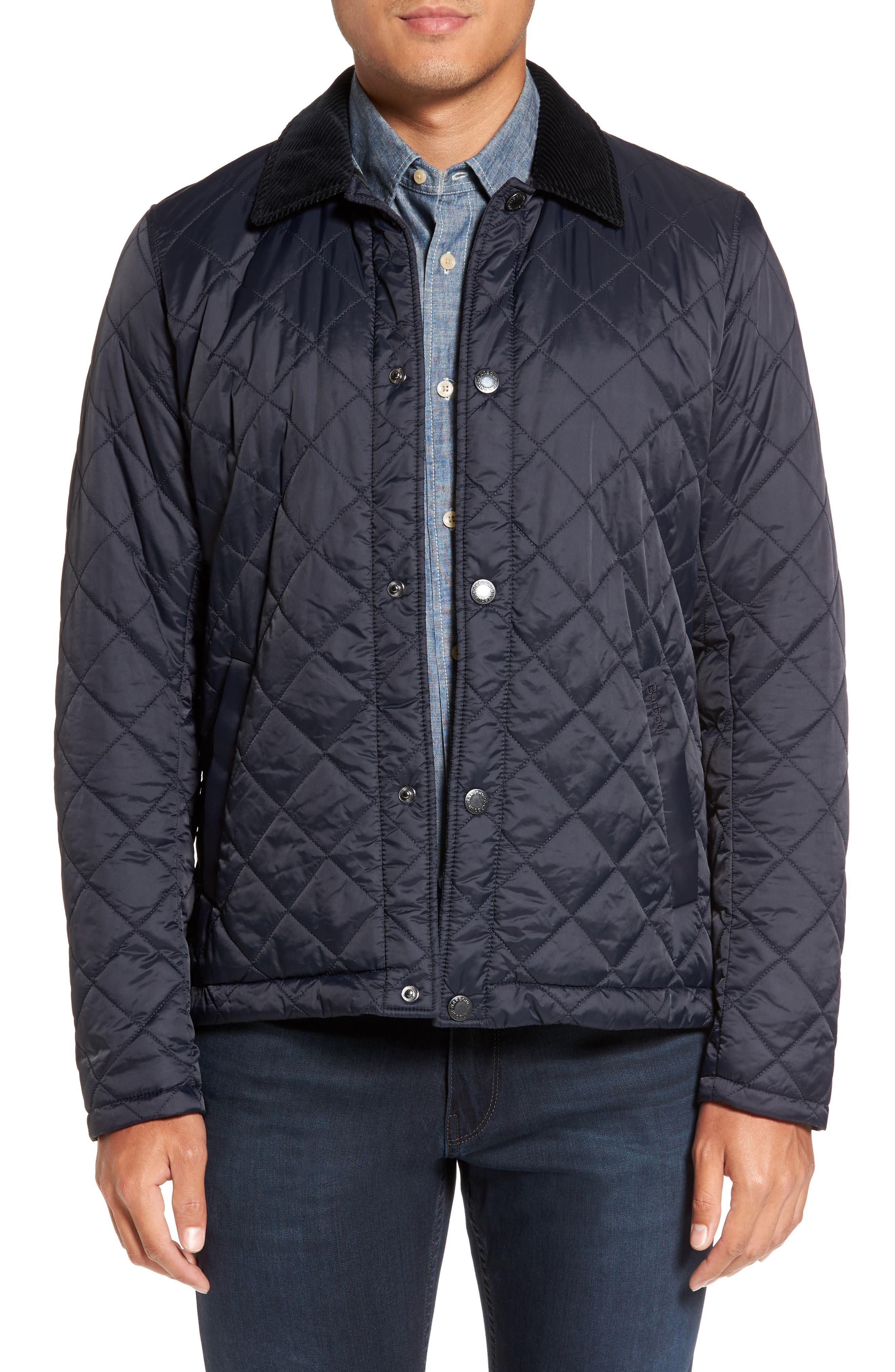 Holme Quilted Water-Resistant Jacket,                             Main thumbnail 1, color,                             NAVY