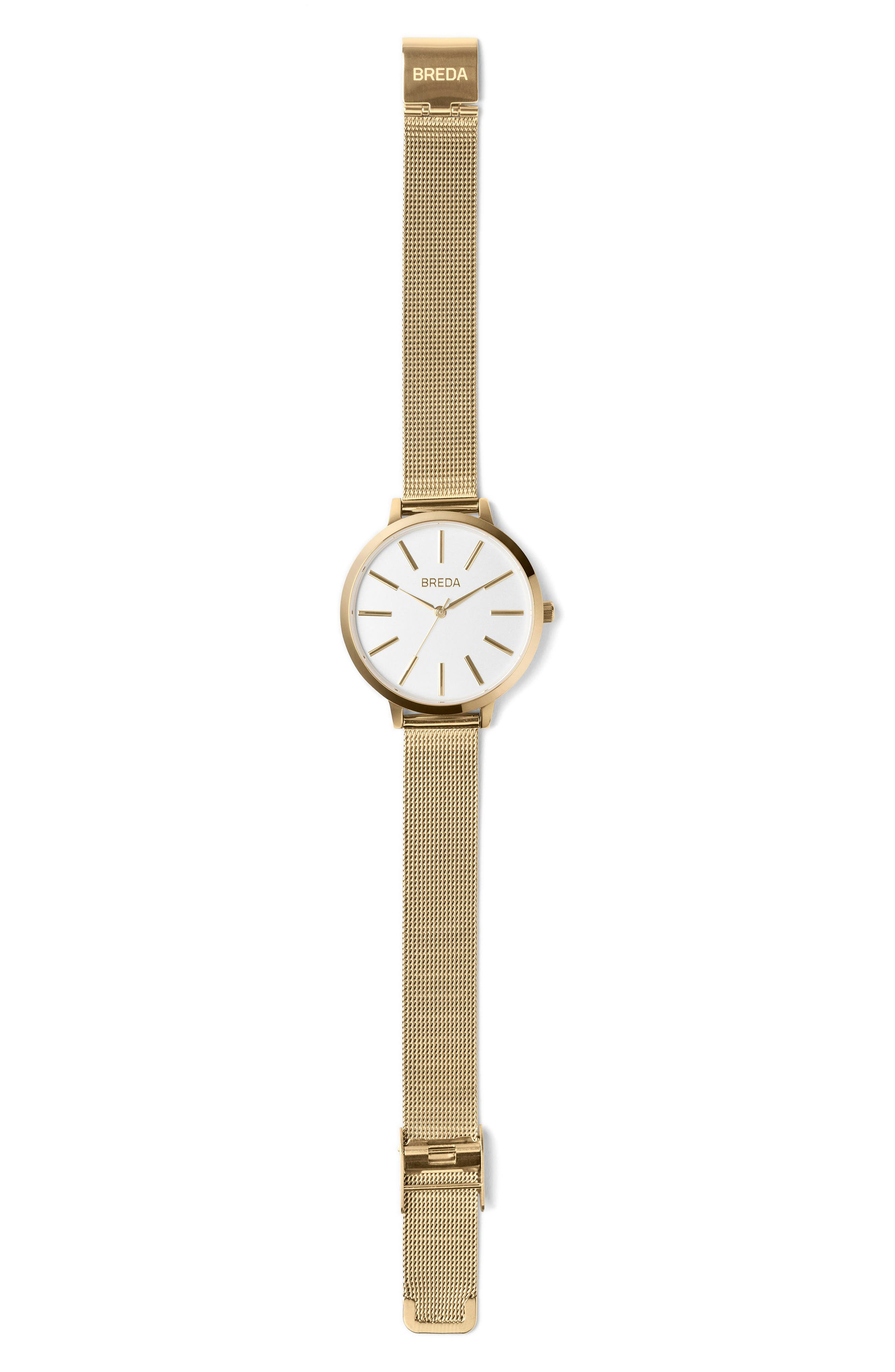 Joule Mesh Strap Watch, 37mm,                             Alternate thumbnail 2, color,                             GOLD