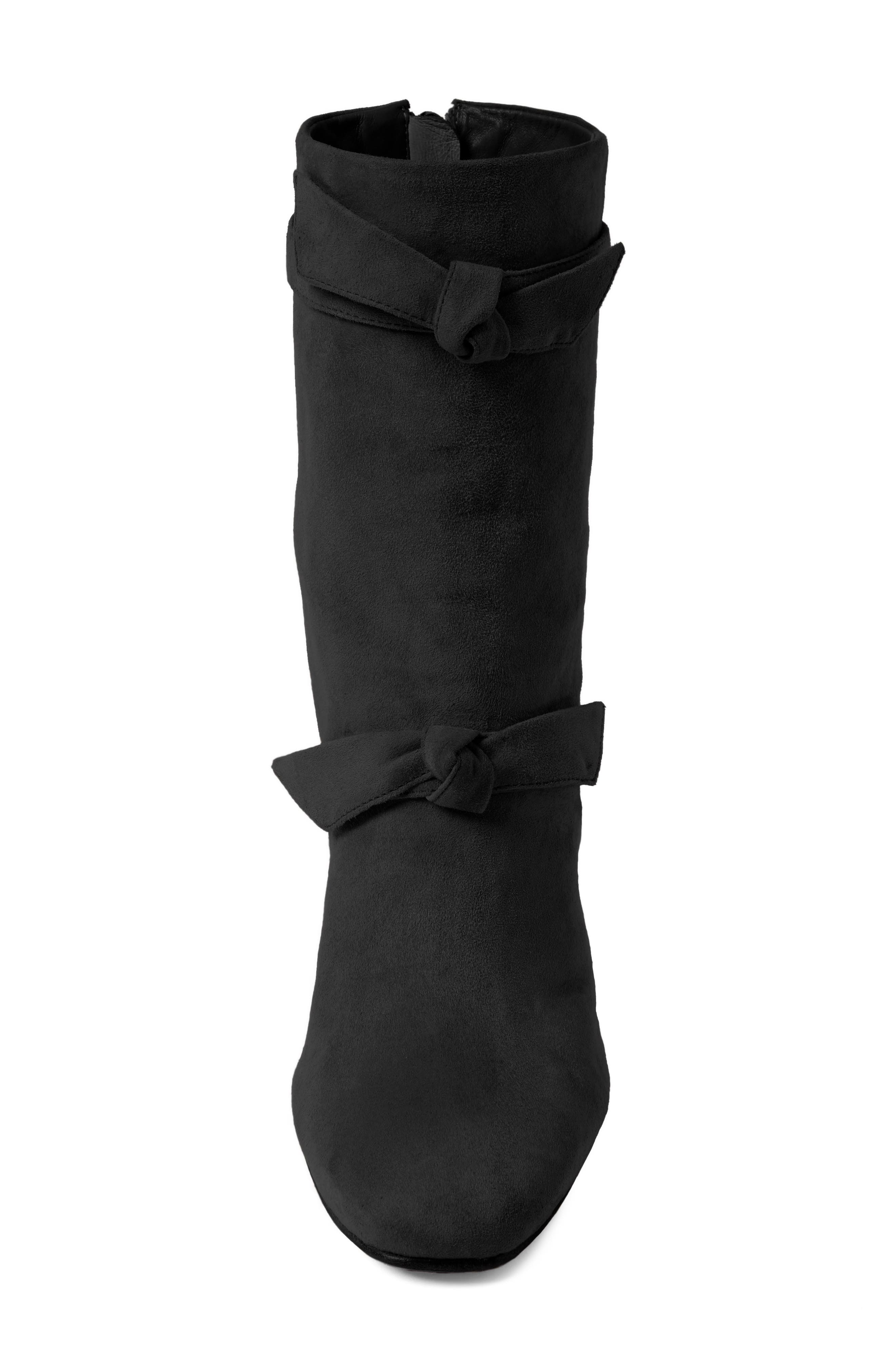 Lorraine Tie Bootie,                             Alternate thumbnail 4, color,                             001