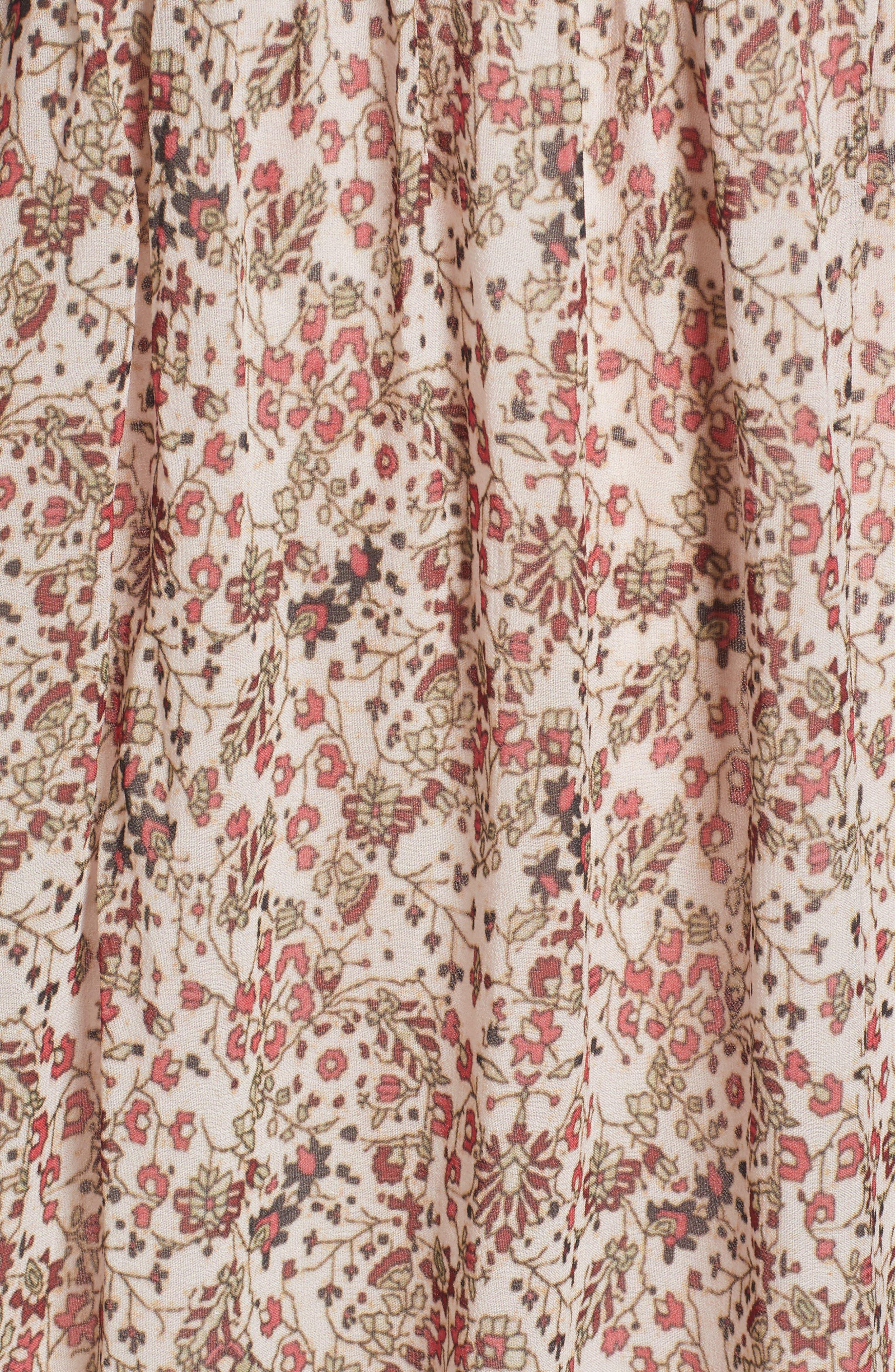 Sebastian Printed Smocked Dress,                             Alternate thumbnail 5, color,                             696