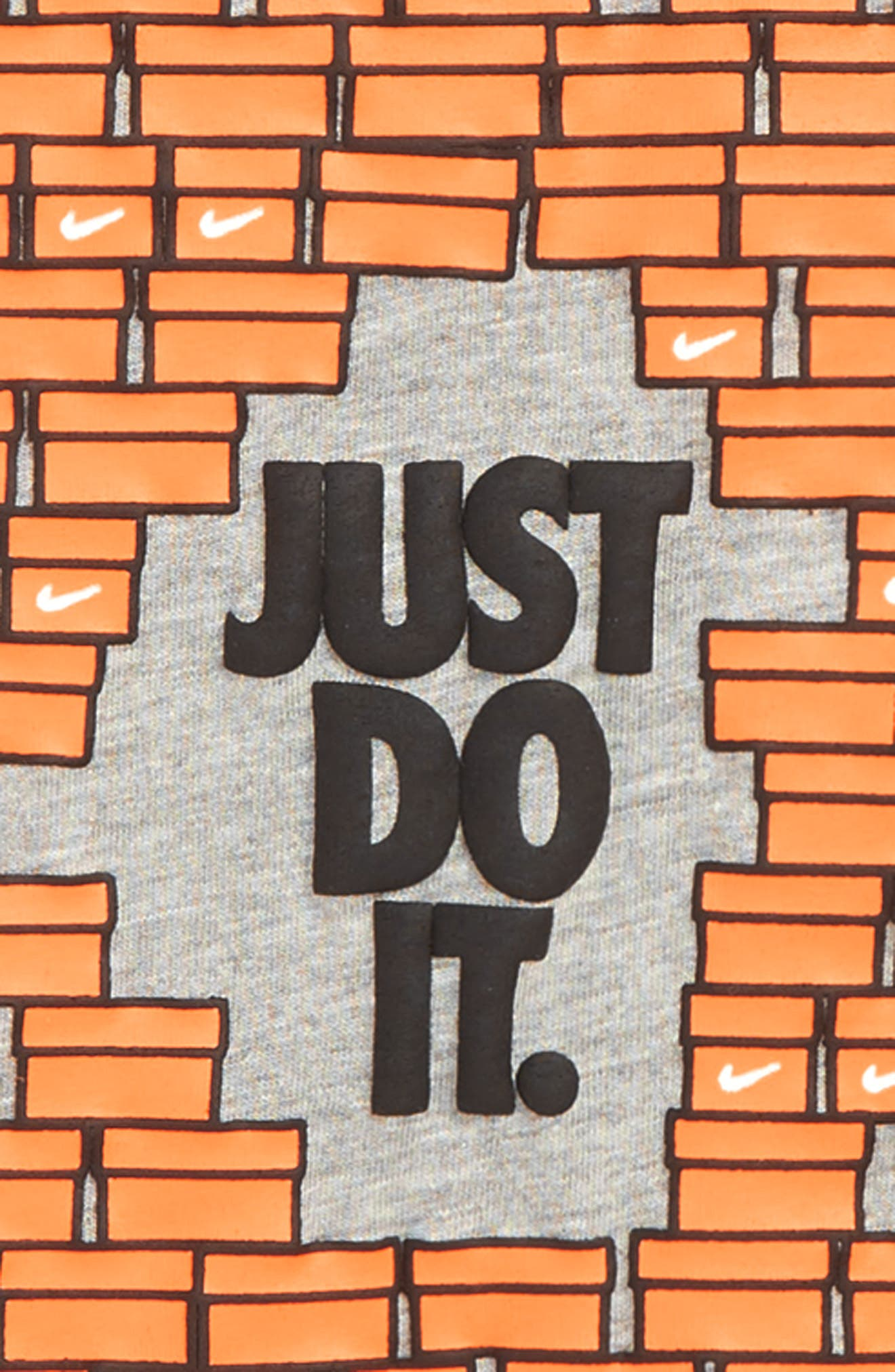 Shoebox Just Do It T-Shirt,                             Alternate thumbnail 2, color,                             DARK GREY HEATHER