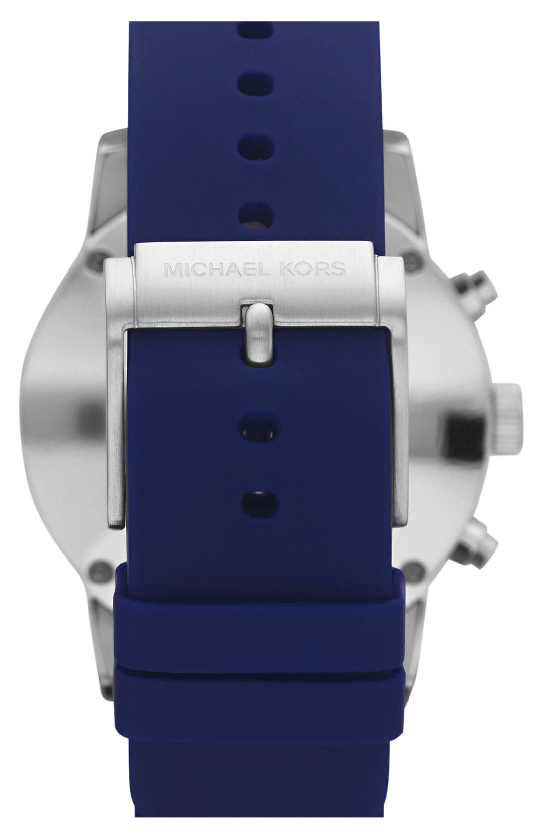 Michael Kors 'Scout' Chronograph Silicone Strap Watch, 43mm,                             Alternate thumbnail 11, color,