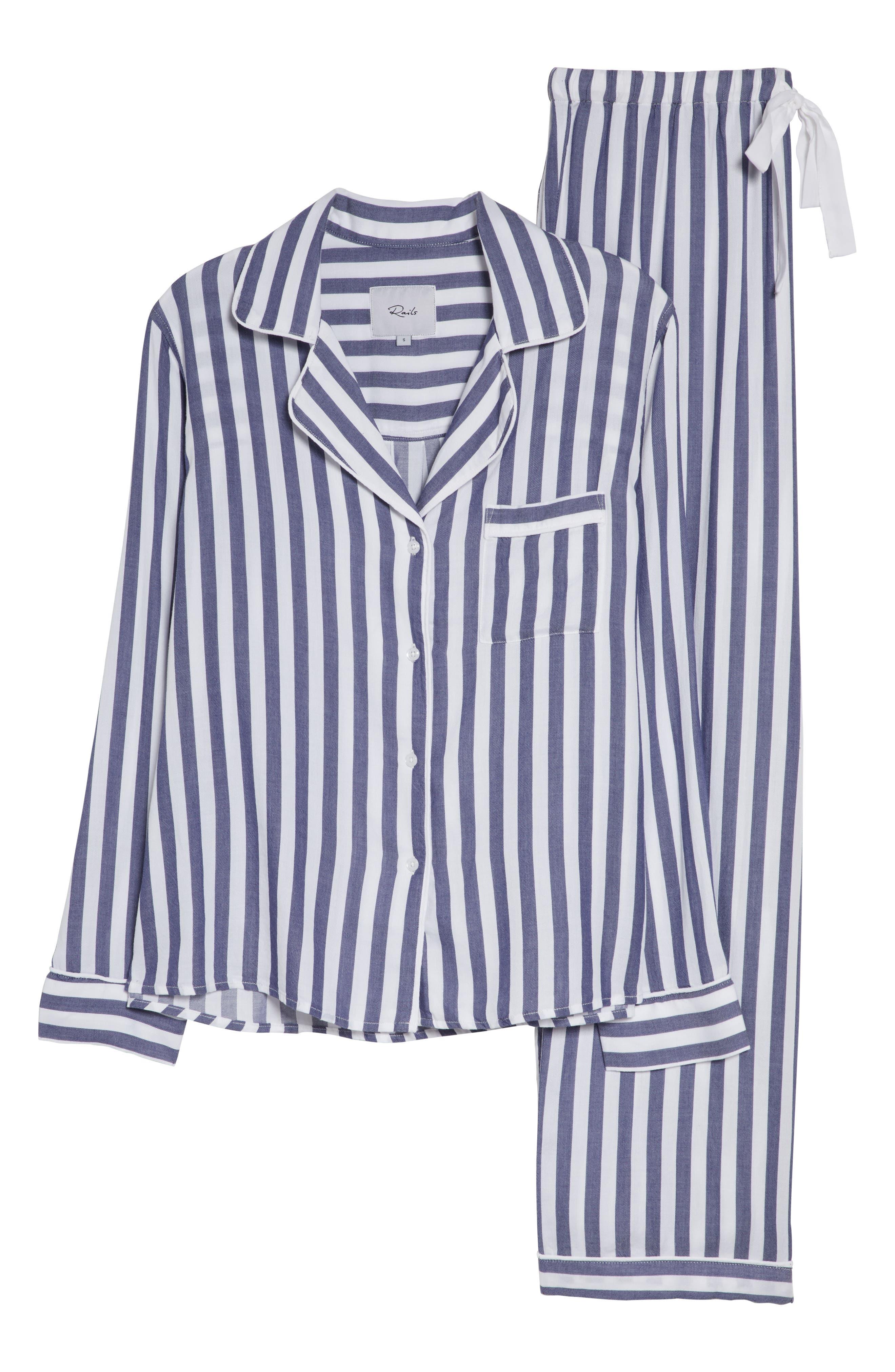 Stripe Pajamas,                             Alternate thumbnail 6, color,                             ALBANY STRIPE