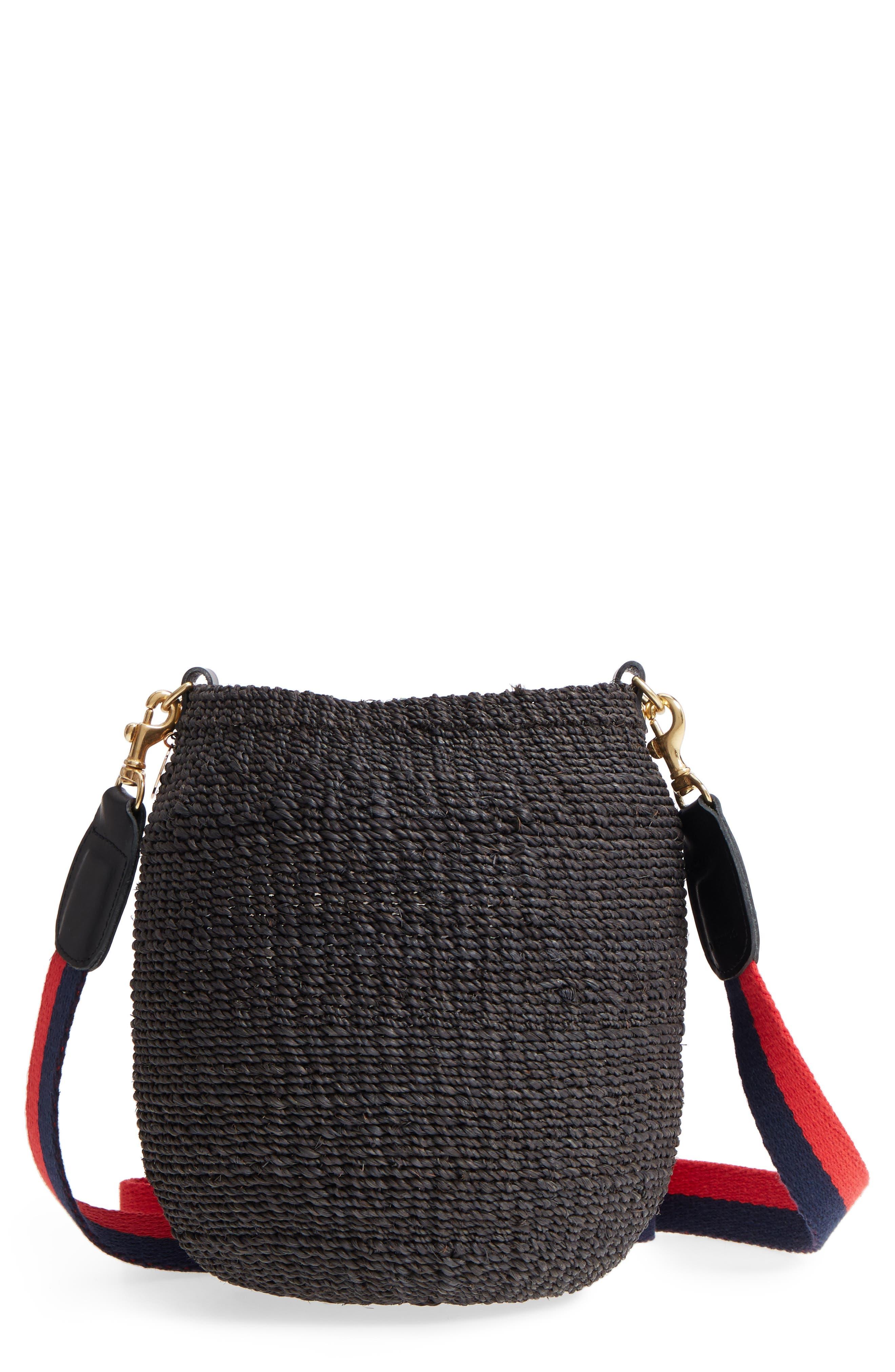 Pot de Miel Top Handle Straw Basket Bag,                             Main thumbnail 1, color,                             001