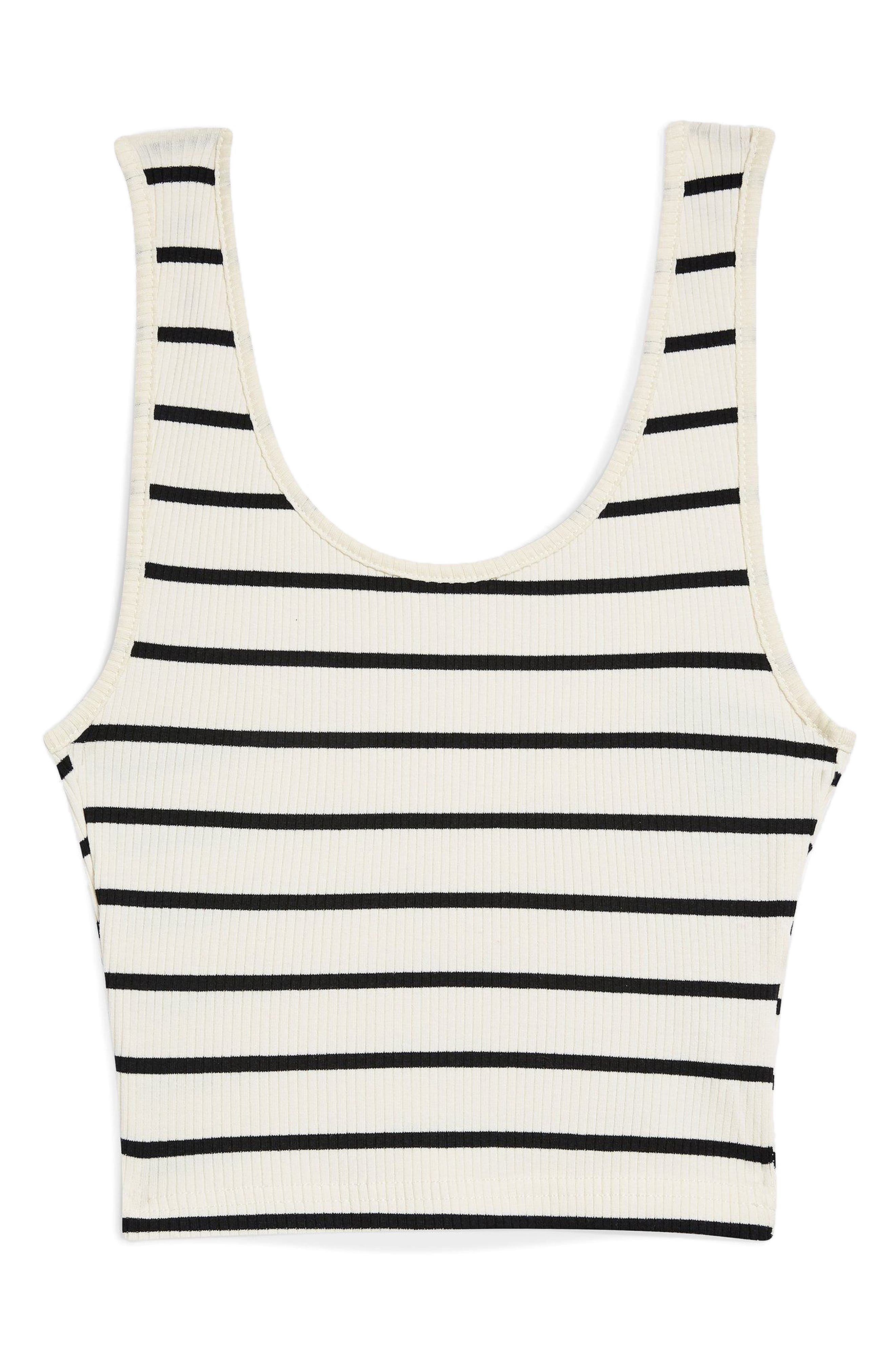 Strappy Scoopback Crop Tank,                             Alternate thumbnail 7, color,