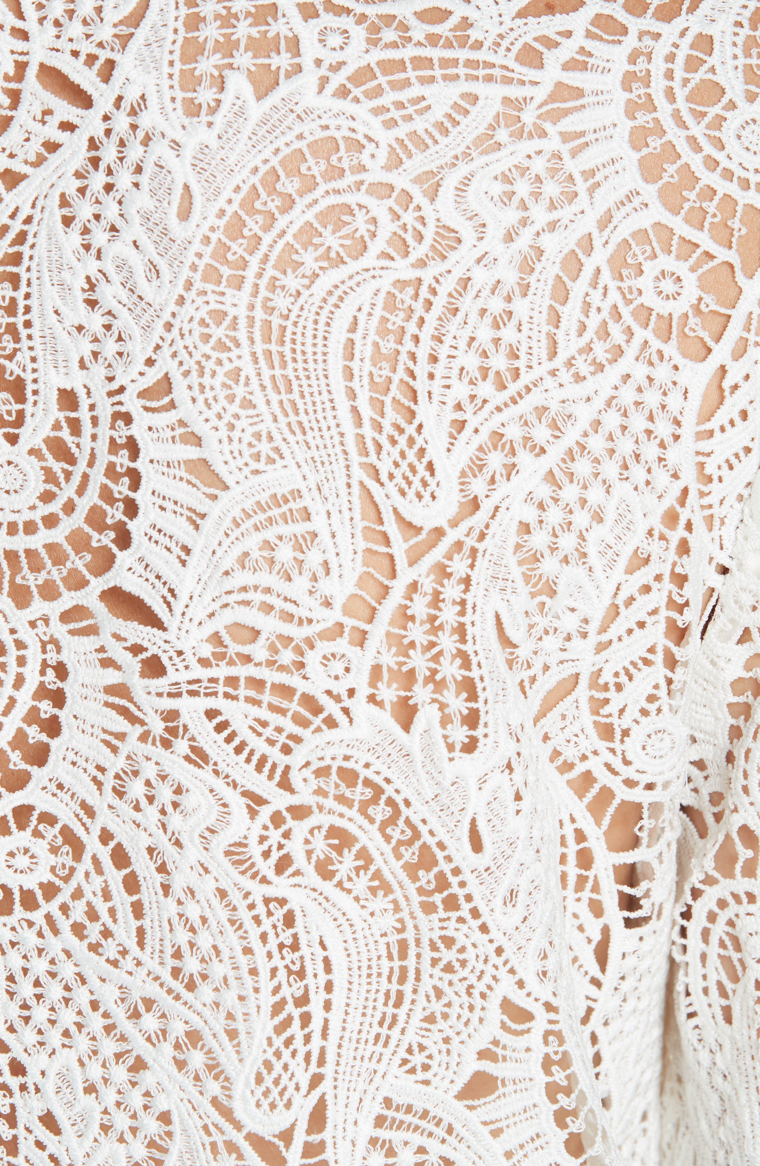 Ilana Lace Top,                             Alternate thumbnail 5, color,                             WHITE