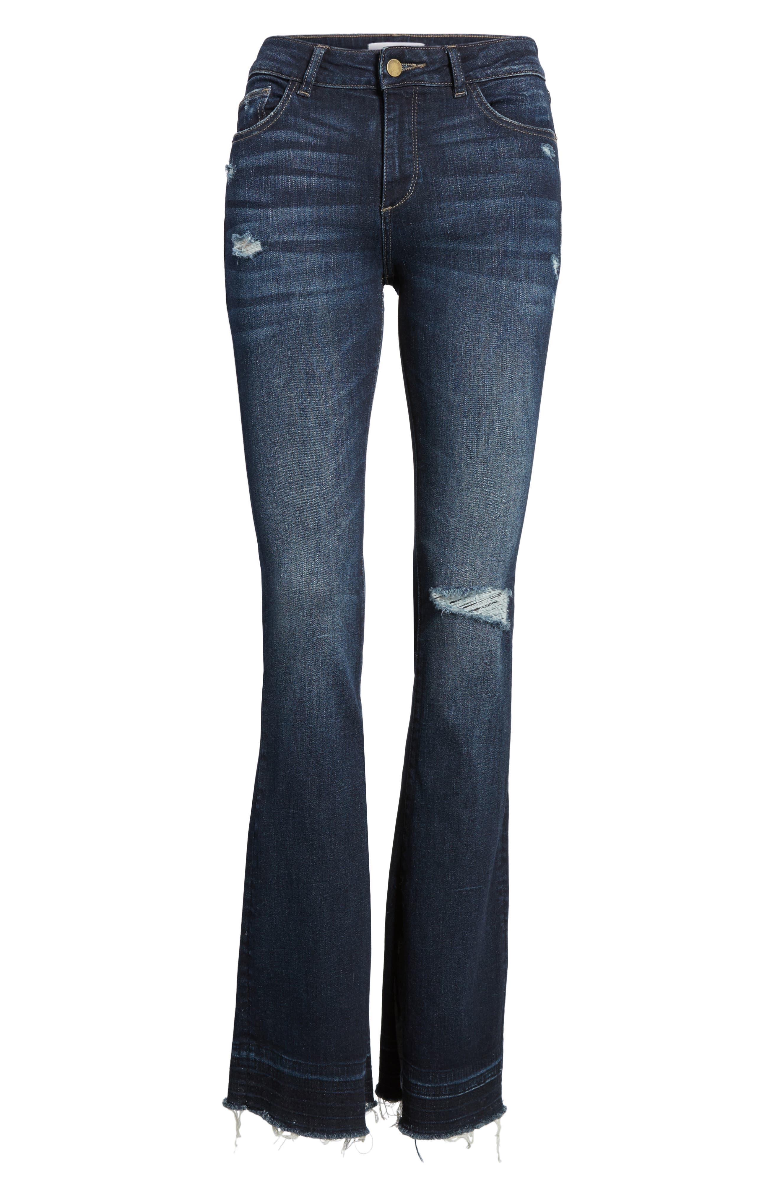 Bridget Split Hem Bootcut Jeans,                             Alternate thumbnail 6, color,                             405