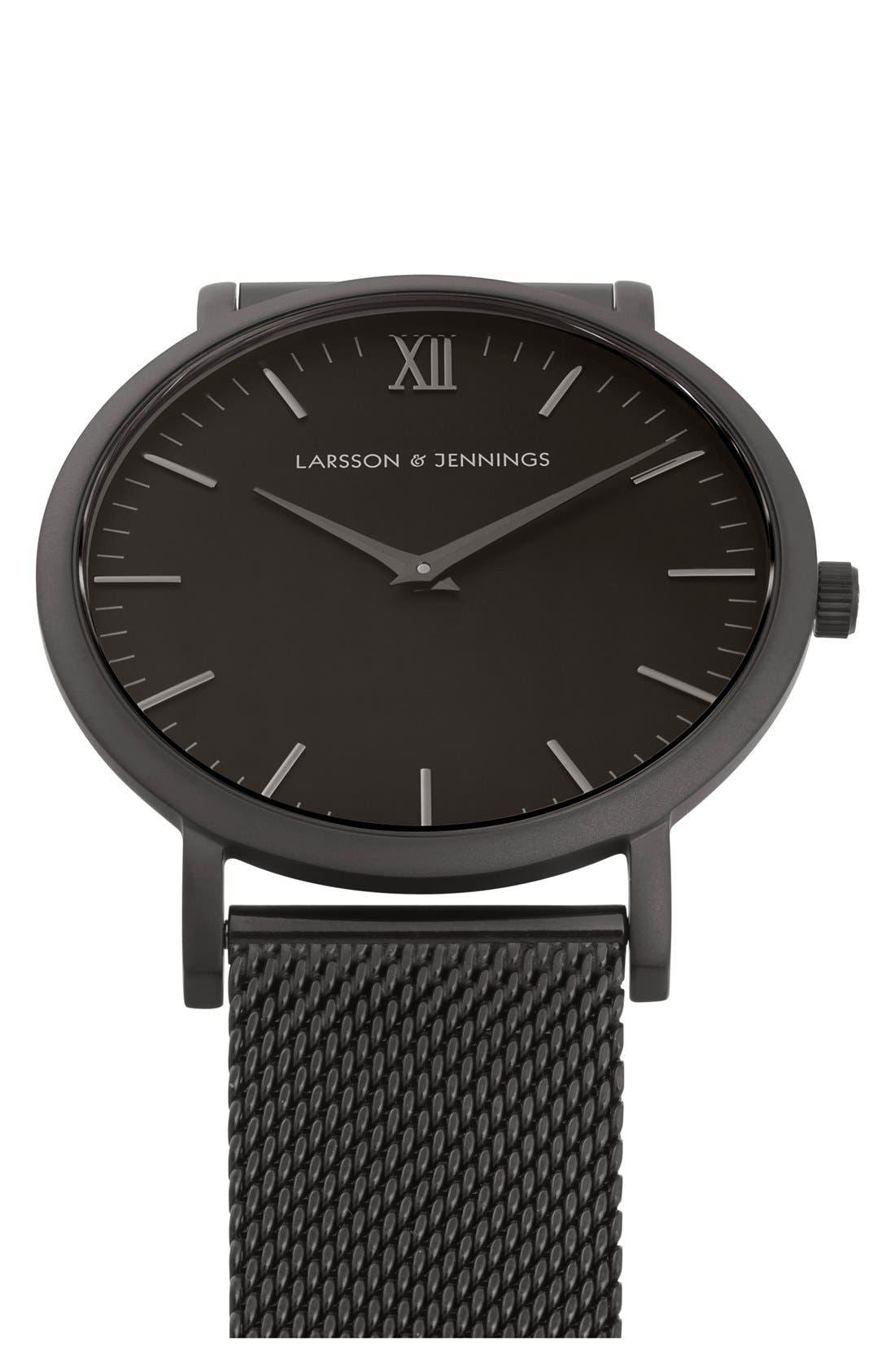 Lugano Mesh Strap Watch, 40mm,                             Alternate thumbnail 6, color,                             001