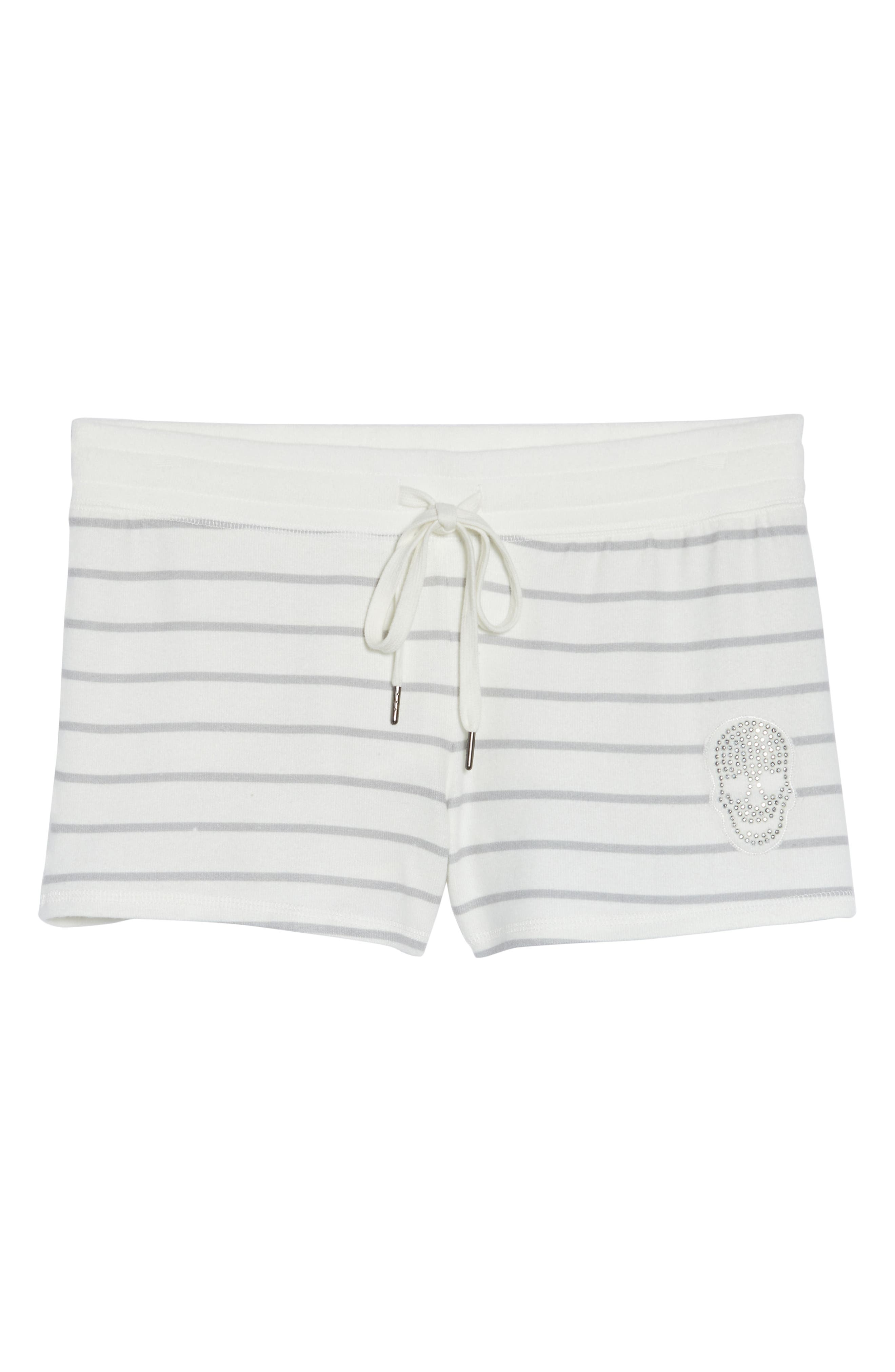 Skull Stripe Lounge Shorts,                             Alternate thumbnail 6, color,                             900