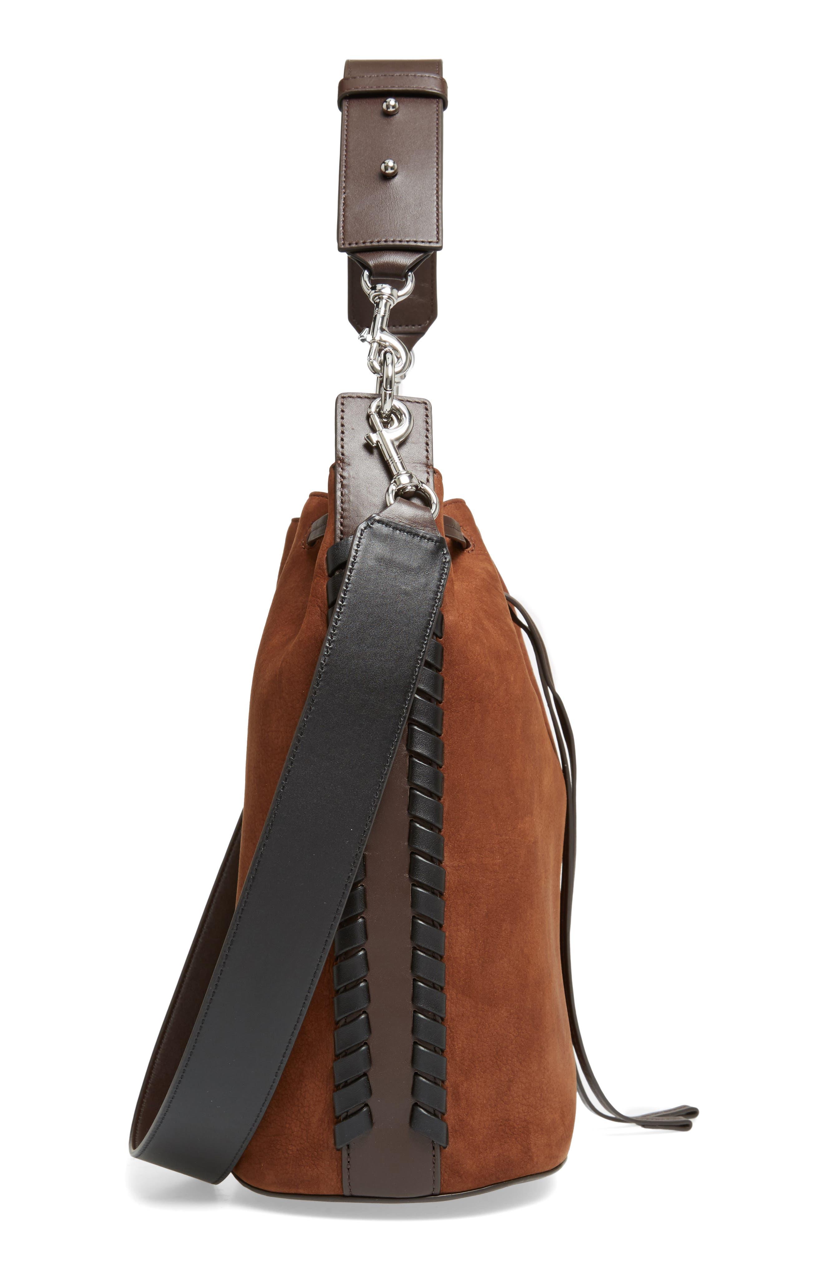Ray Nubuck Leather Bucket Bag,                             Alternate thumbnail 5, color,                             200