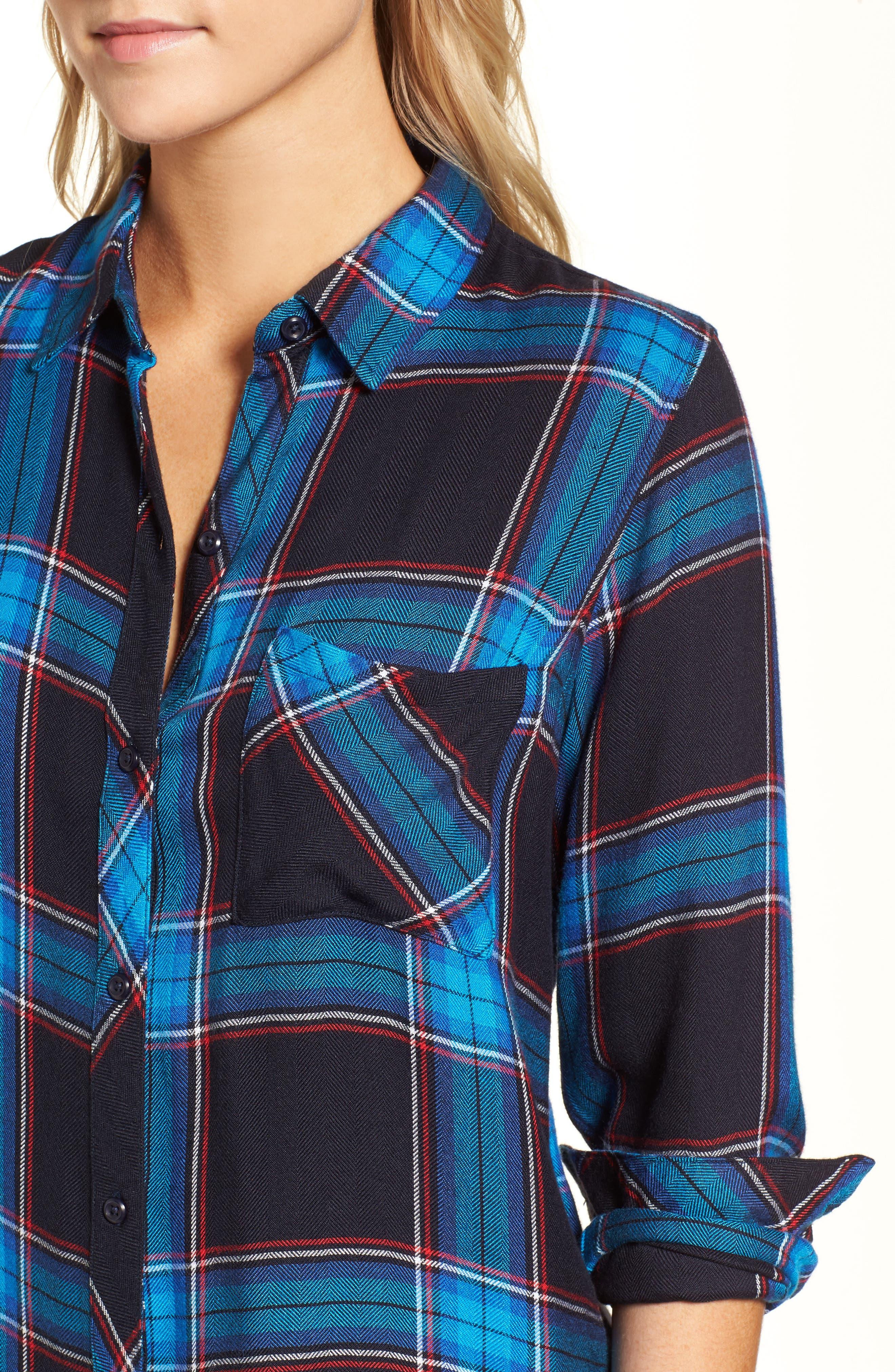 Hunter Plaid Shirt,                             Alternate thumbnail 477, color,