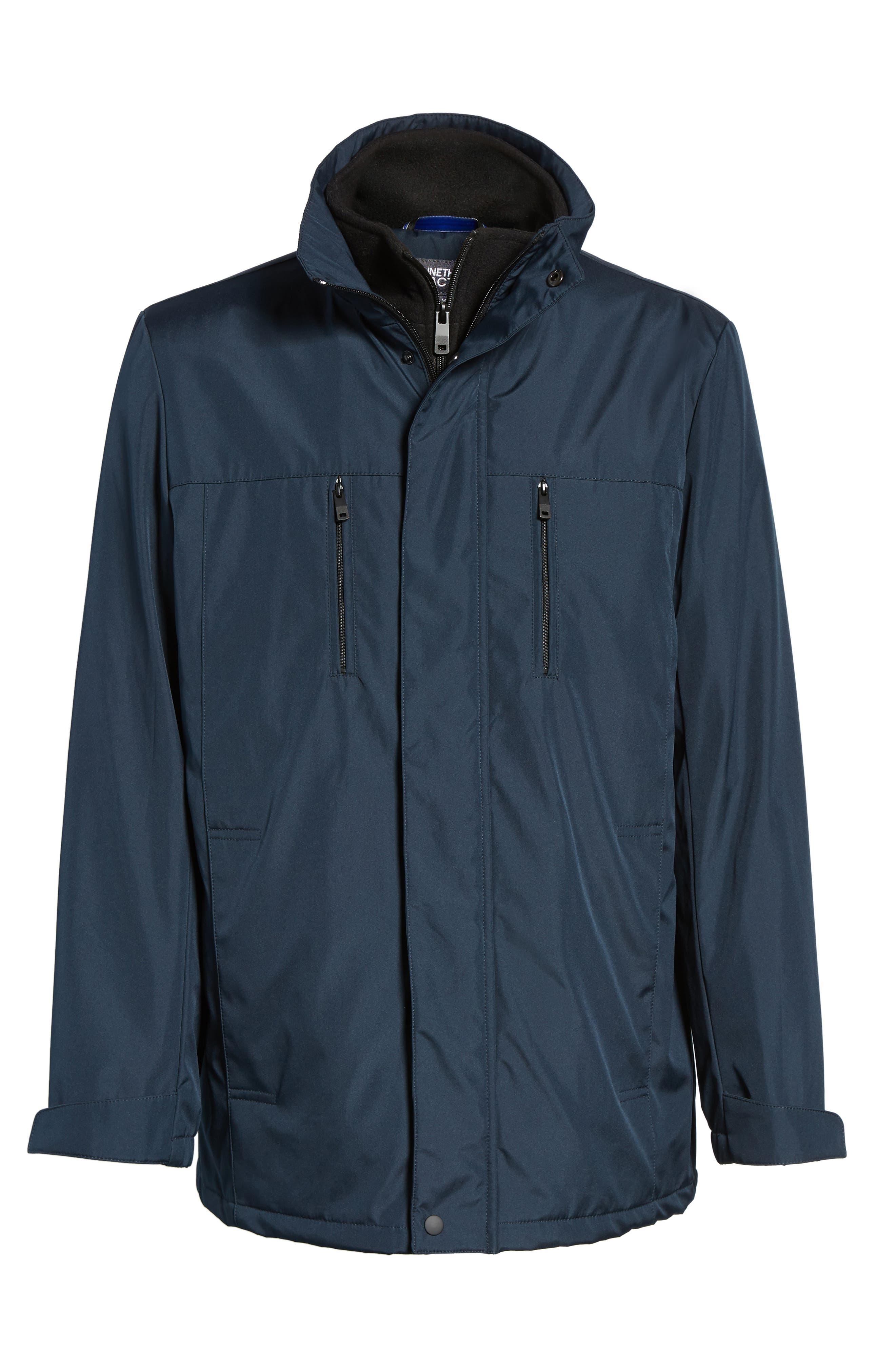 Hooded Jacket with Inset Fleece Bib,                             Alternate thumbnail 20, color,