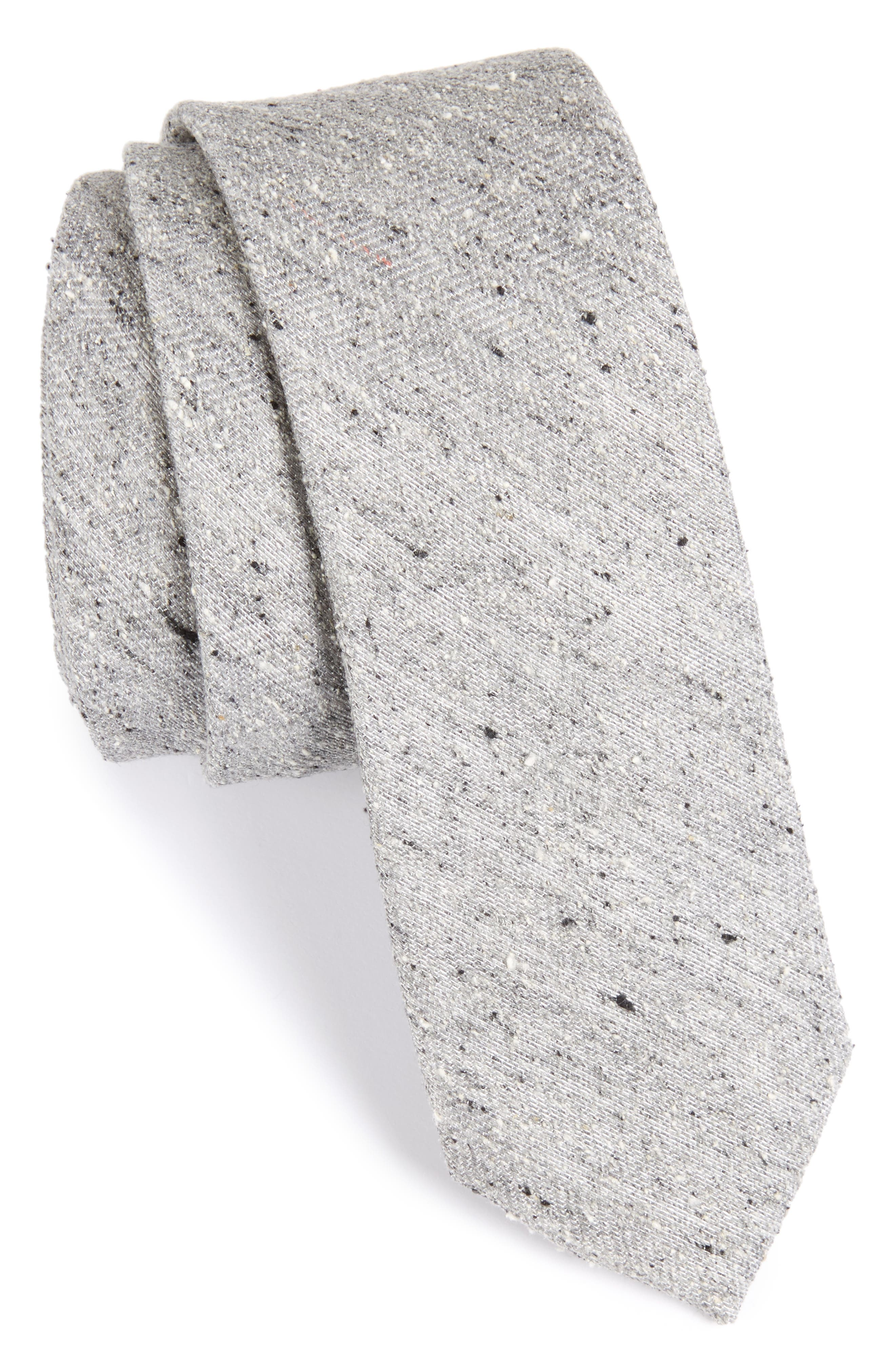 Buff Solid Silk Skinny Tie,                             Main thumbnail 1, color,                             020