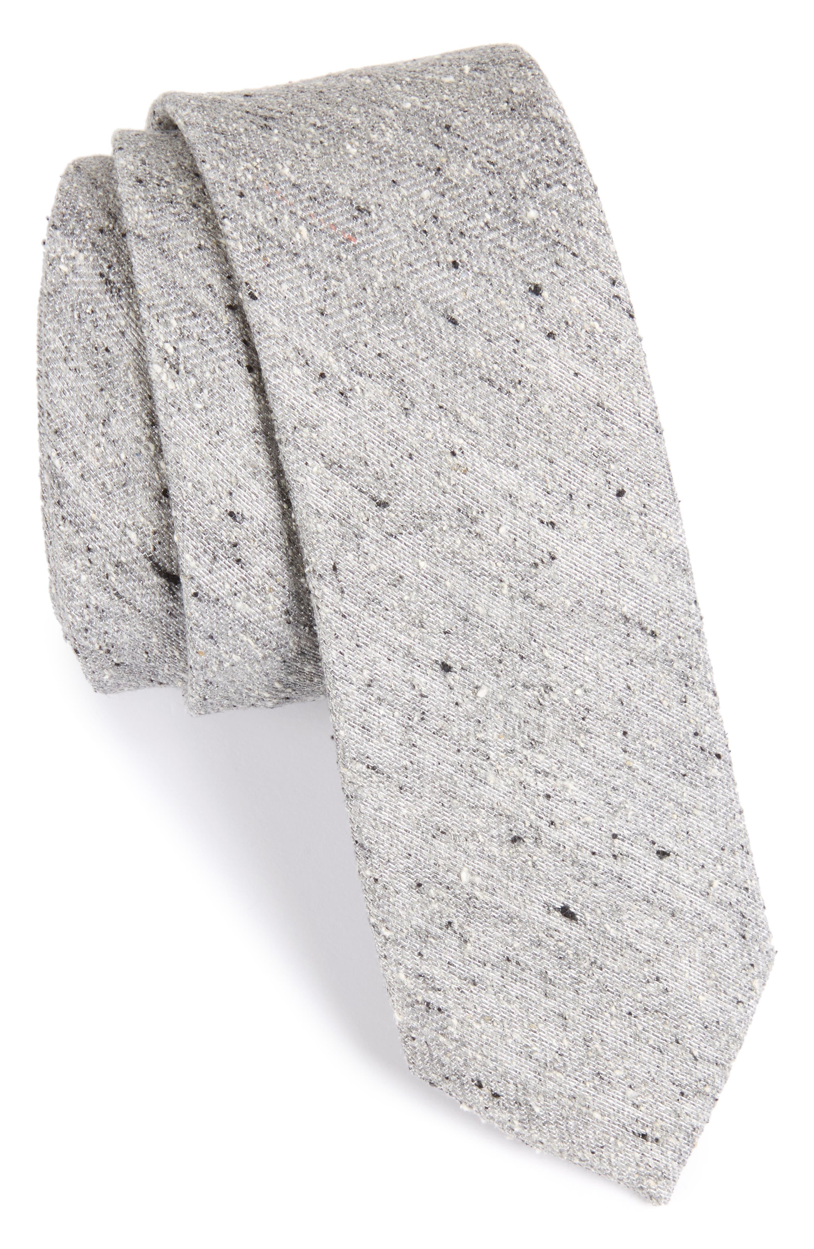 Buff Solid Silk Skinny Tie,                         Main,                         color, 020