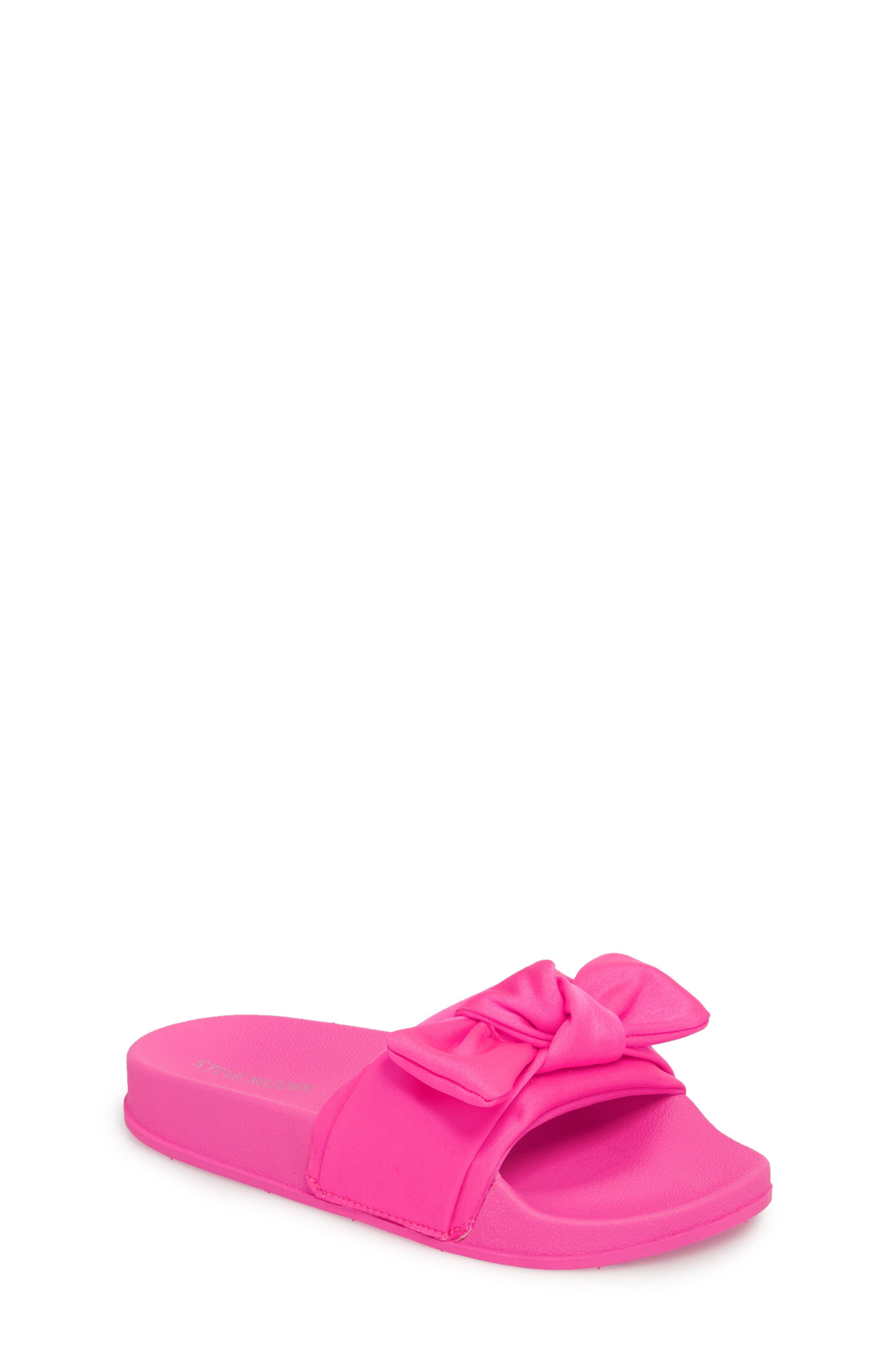JSilky Slide Sandal,                         Main,                         color, HOT PINK