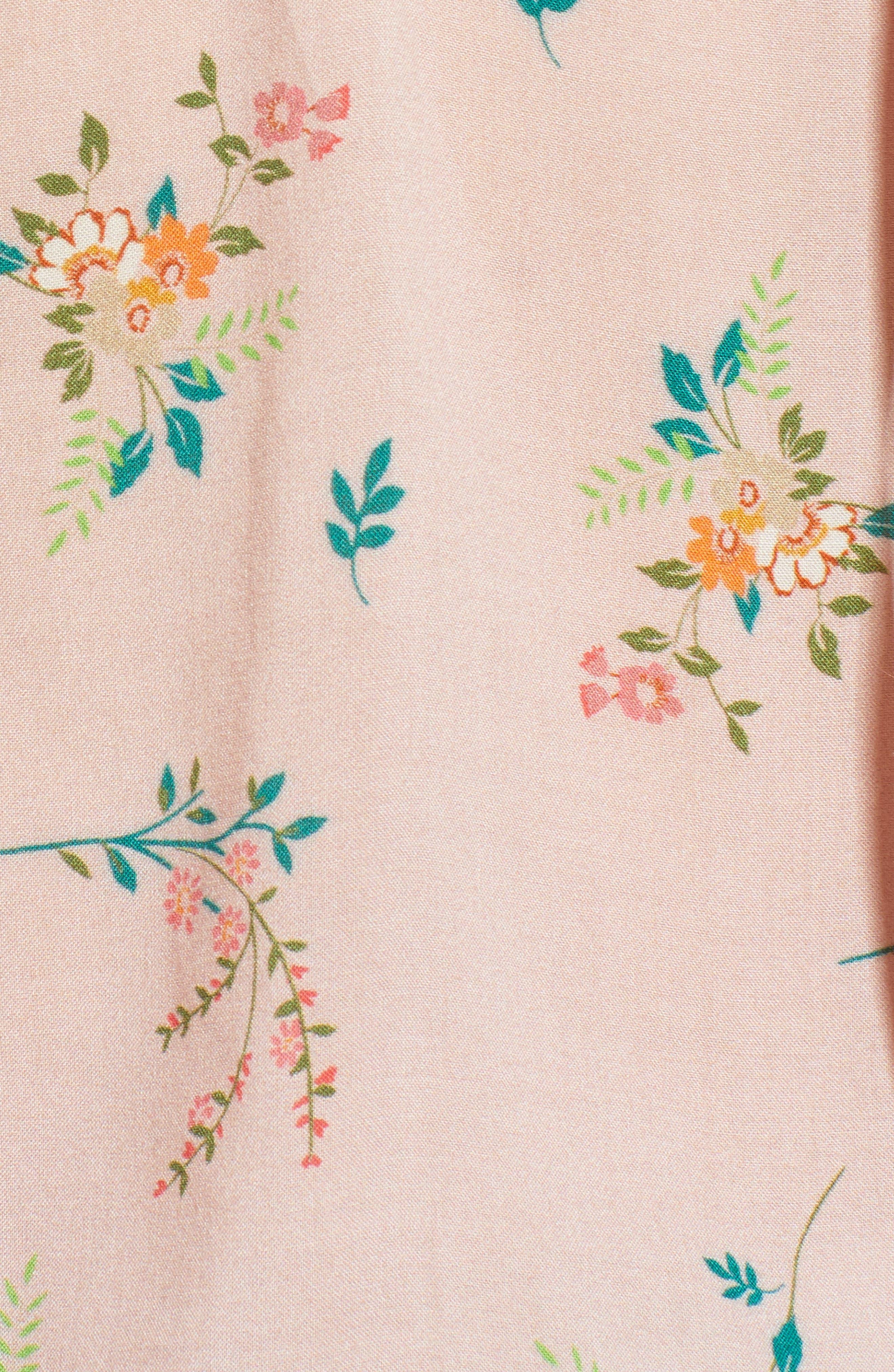 Floral Peasant Blouse,                             Alternate thumbnail 6, color,