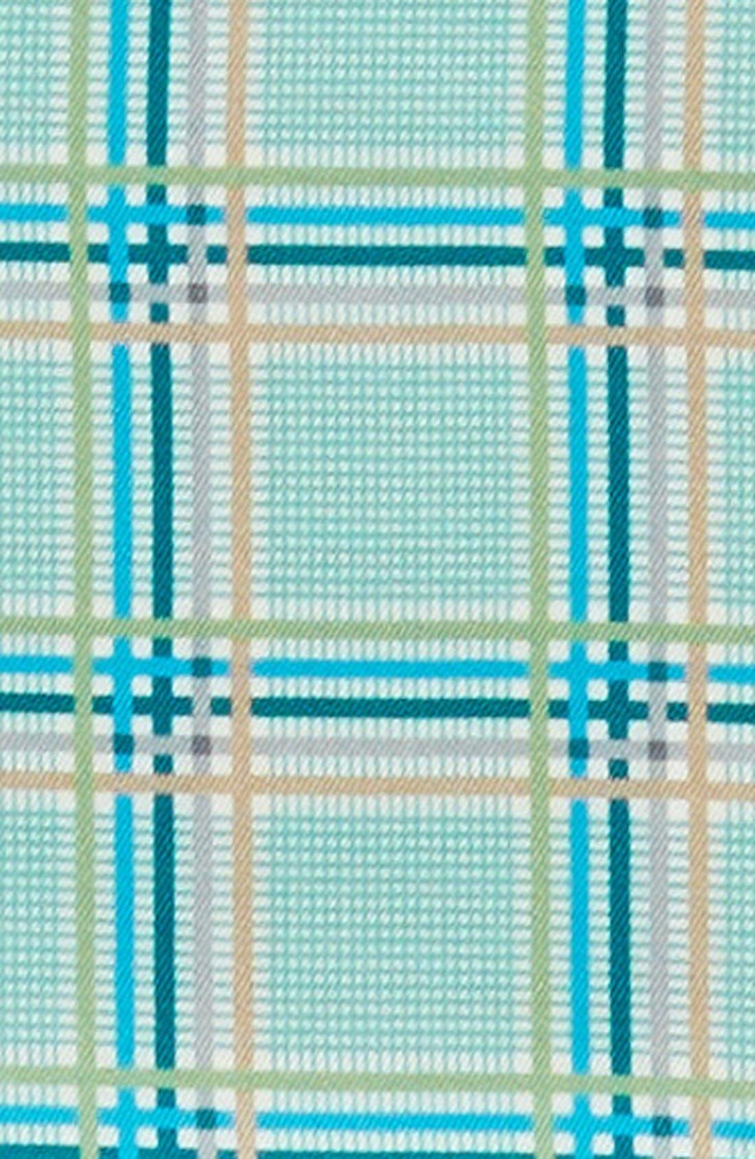 Plaid Silk Pocket Square,                             Alternate thumbnail 7, color,