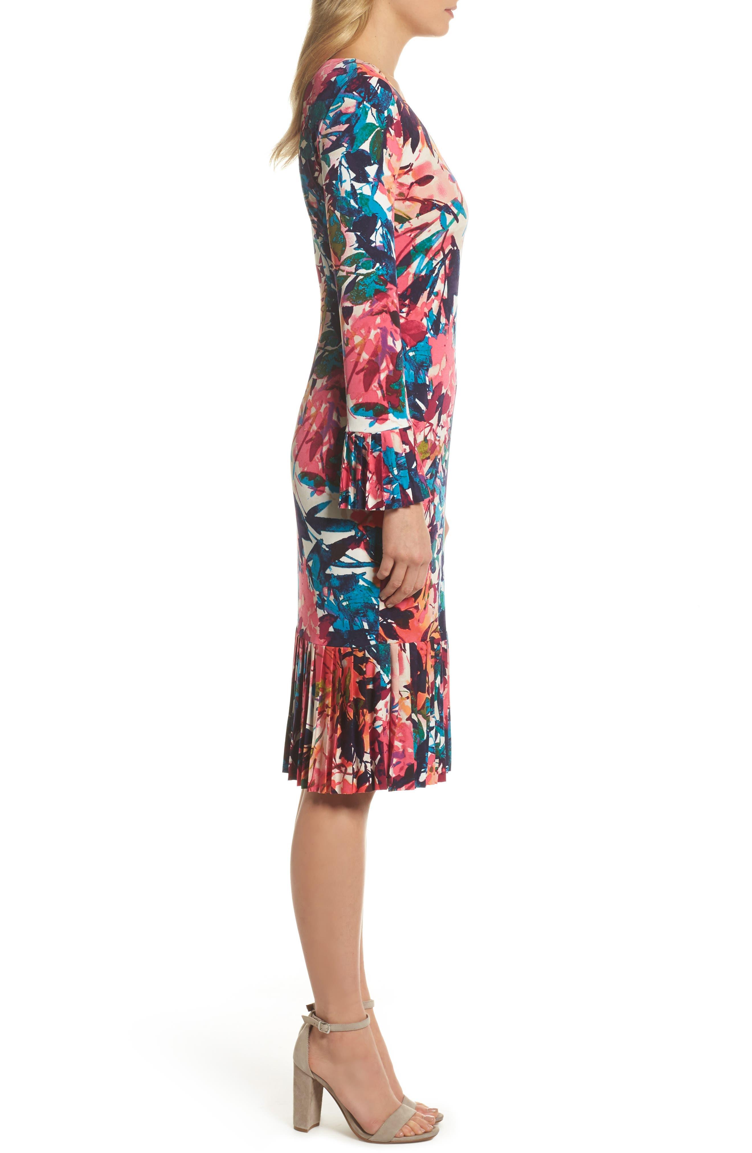 Midi Sheath Dress,                             Alternate thumbnail 3, color,                             692
