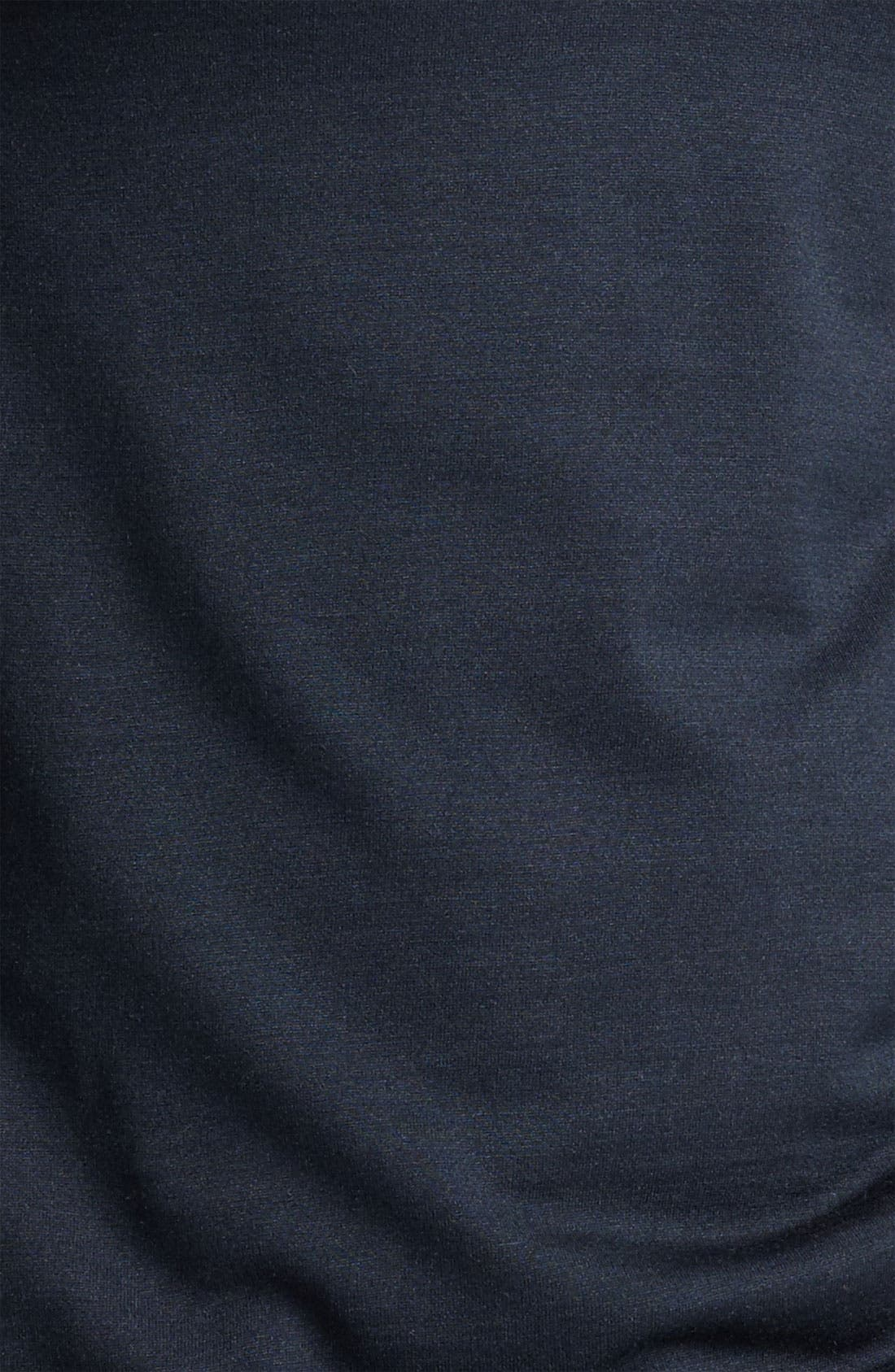 Hampton Silk & Cotton Polo,                             Alternate thumbnail 8, color,                             BLACK