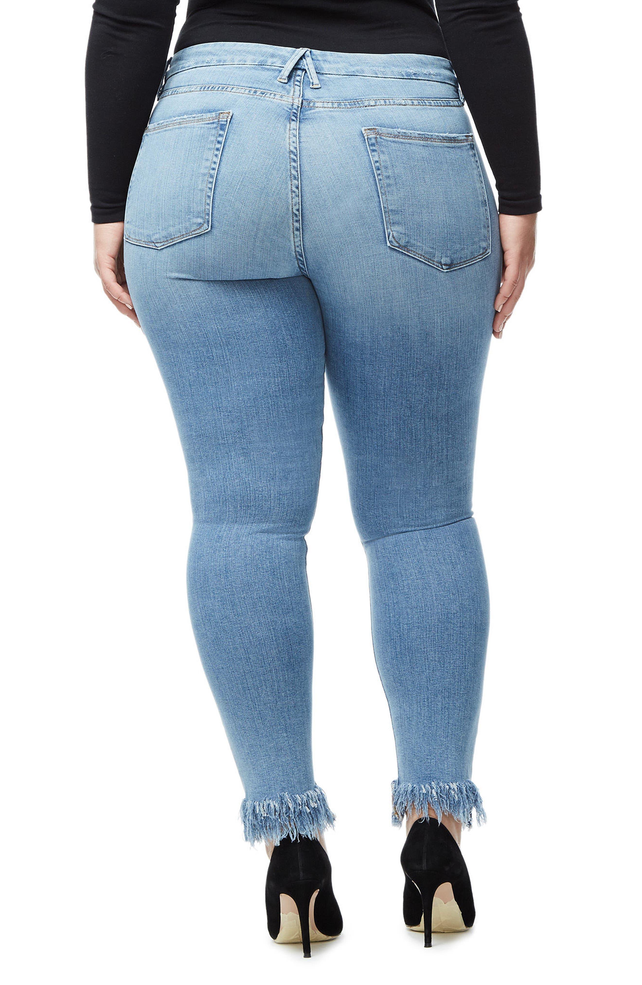 Good Legs Fray Ankle Skinny Jeans,                             Alternate thumbnail 5, color,                             407