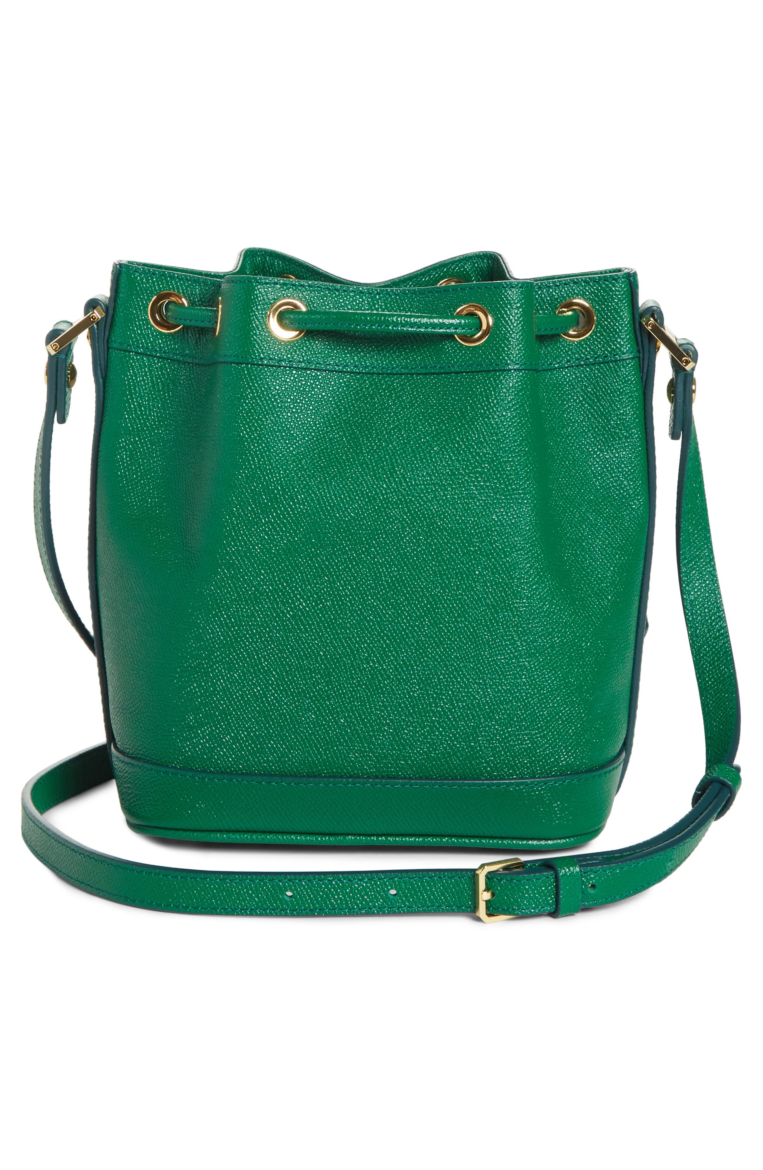 Mini RGB Drawstring Crossbody Bag,                             Alternate thumbnail 3, color,                             GREEN