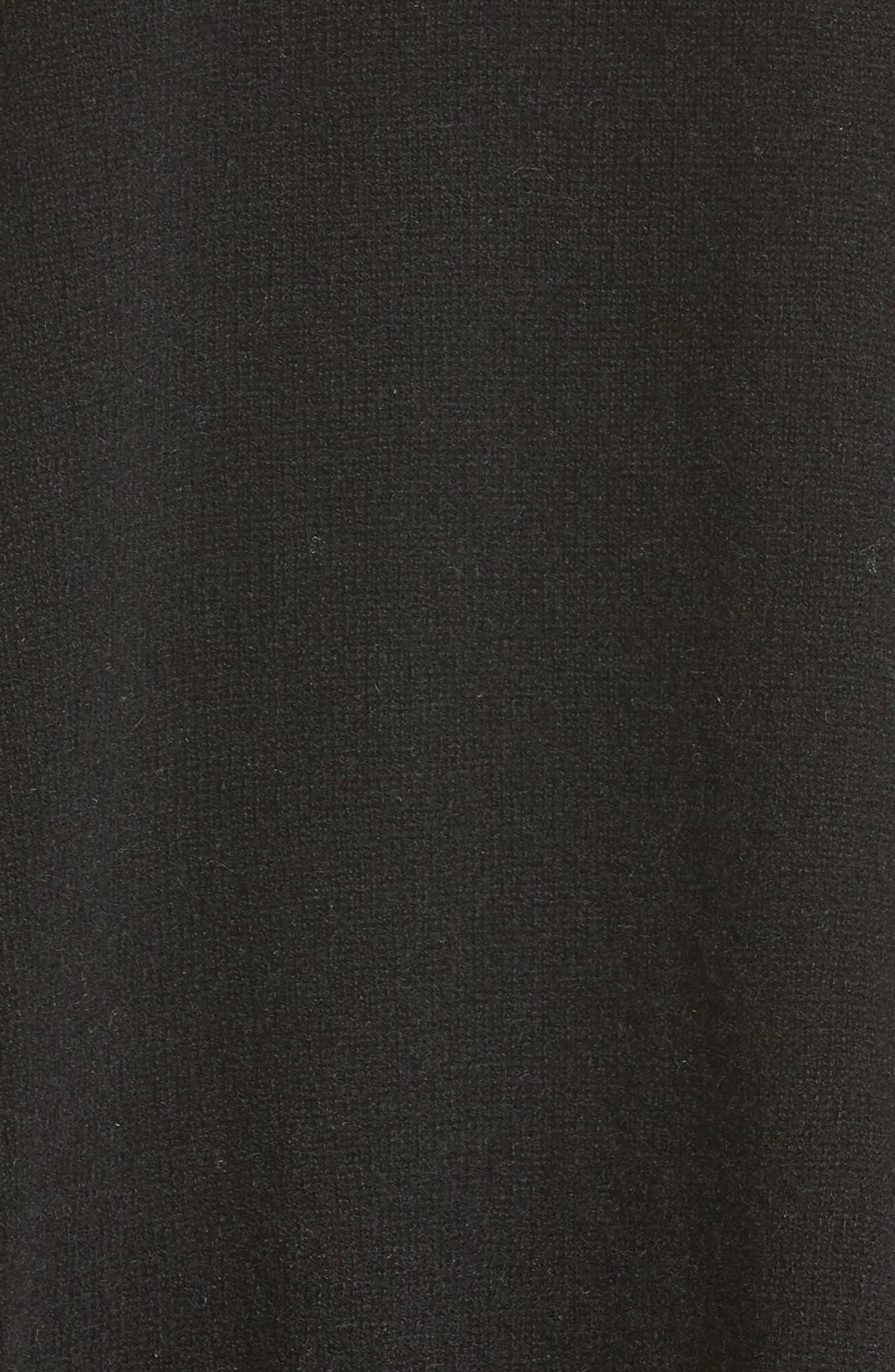 Crop Cashmere Sweater,                             Alternate thumbnail 5, color,                             001
