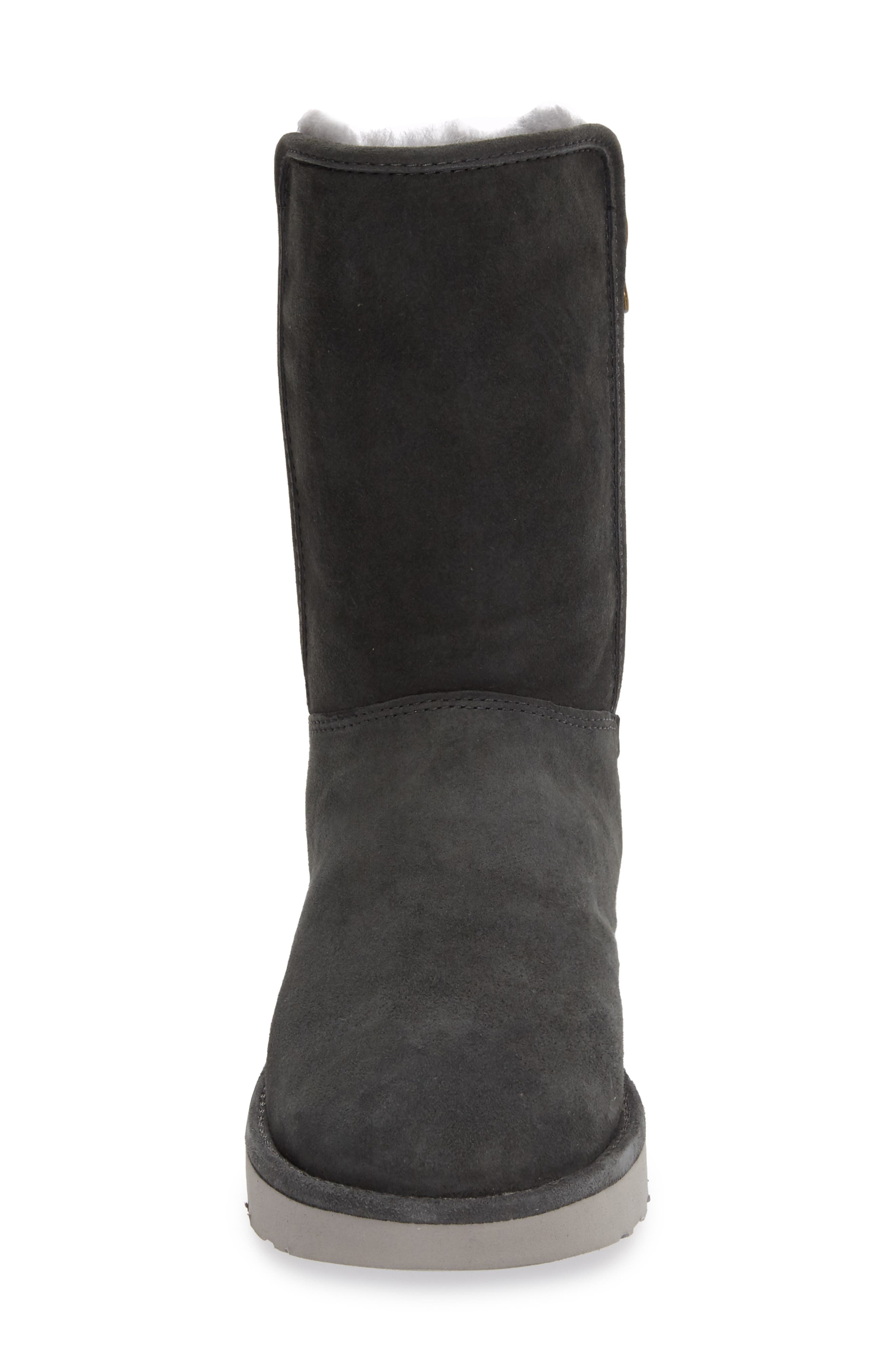 Abree II Short Boot,                             Alternate thumbnail 3, color,                             GRIGIO SUEDE