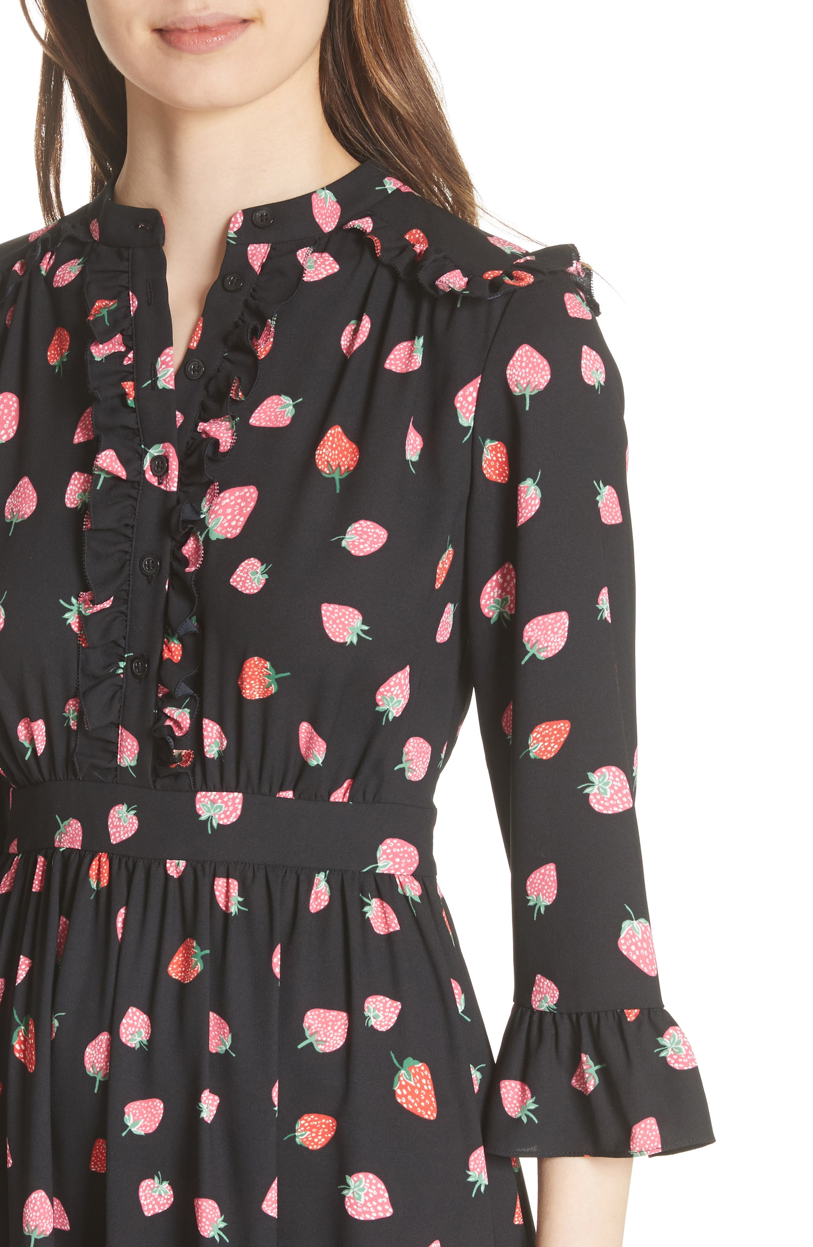 tossed berry shirtdress,                             Alternate thumbnail 4, color,                             001