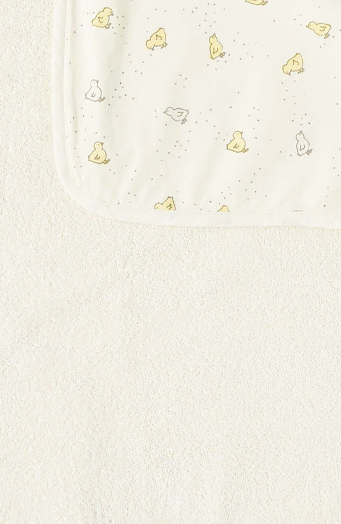 Baby Chick Print Hooded Towel,                             Alternate thumbnail 2, color,