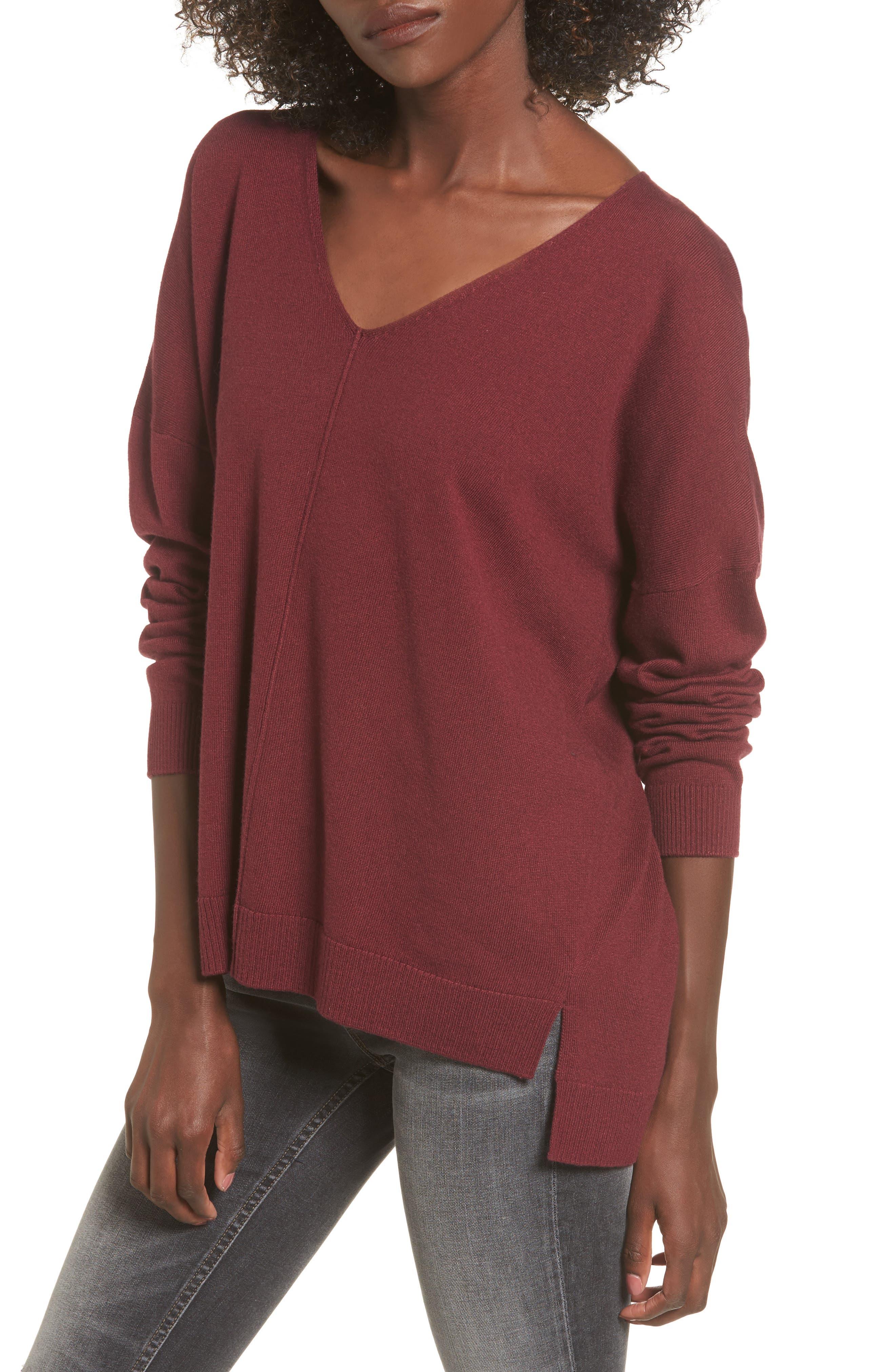 V-Neck Sweater,                         Main,                         color, 601