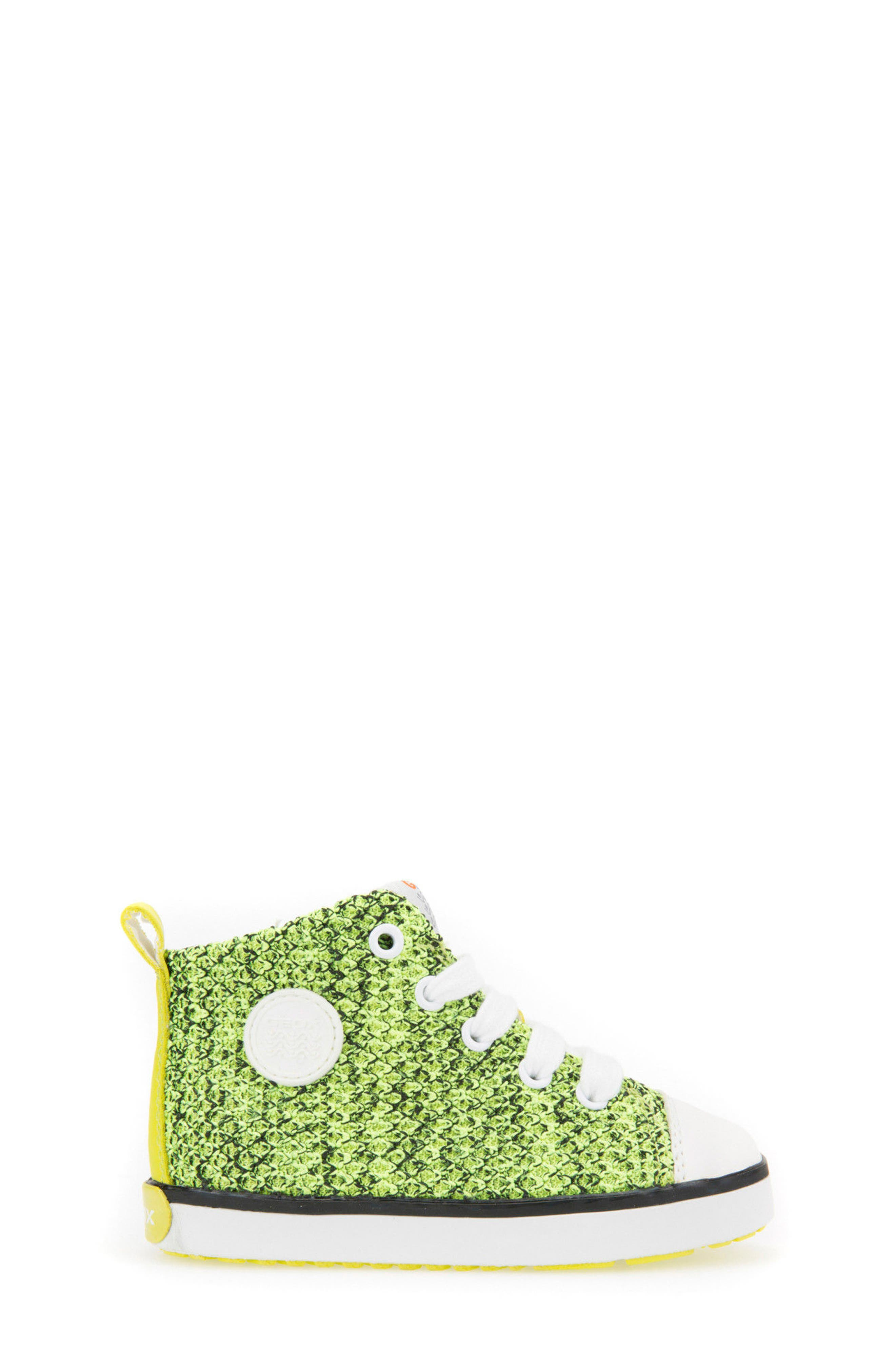 Kilwi Knit High Top Sneaker,                             Alternate thumbnail 3, color,                             LIME GREEN