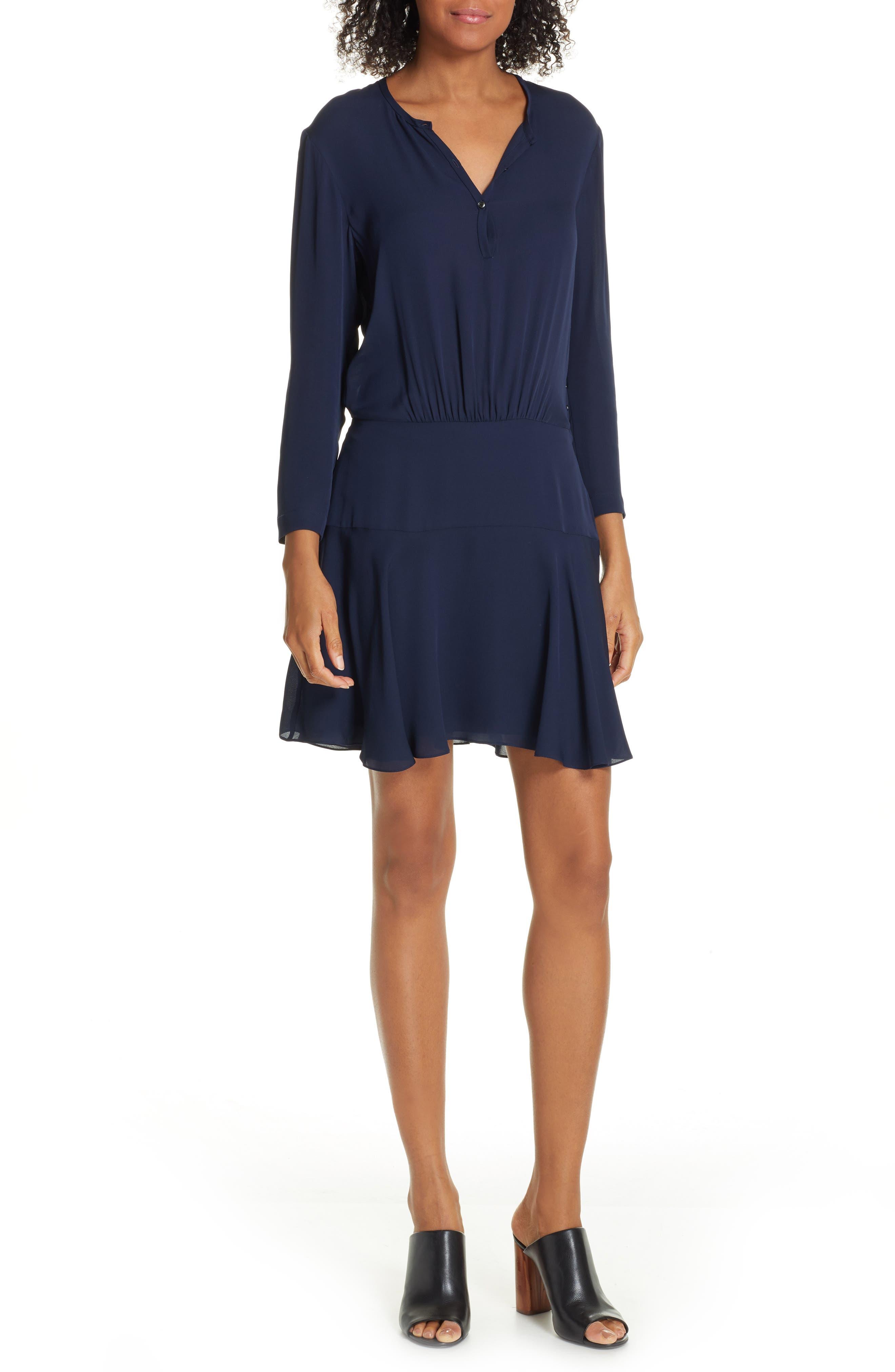 A.l.c. Hearst Silk Dress, Blue